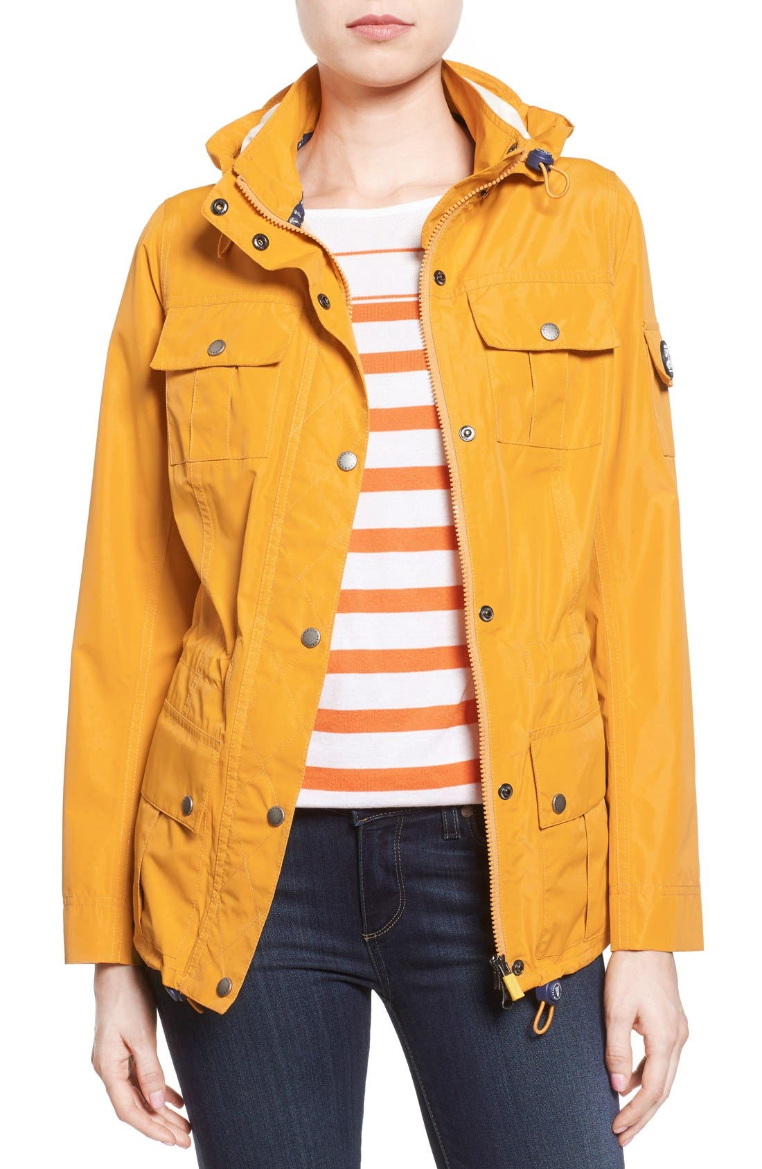 Alternate Image 1 Selected - Barbour 'Bowline' Hooded Waterproof Jacket