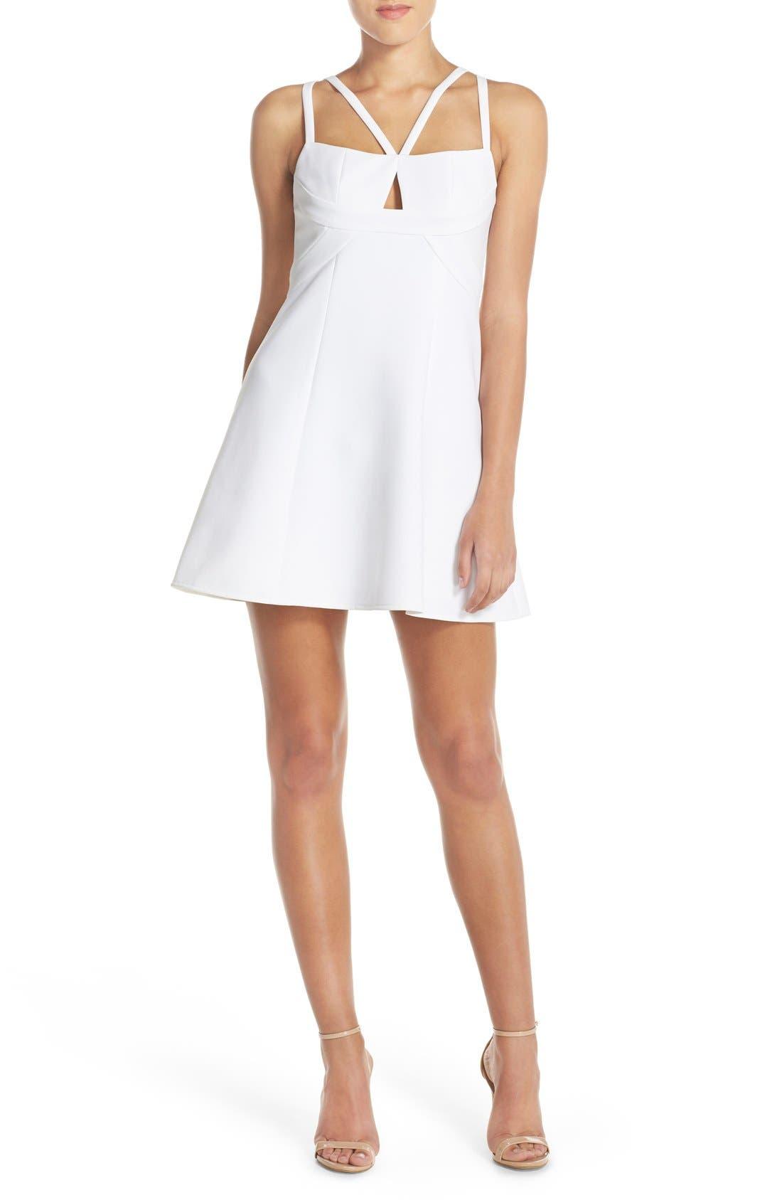 Alternate Image 4  - BCBGMAXAZRIA 'Charlot' Cutout Crepe Fit & Flare Dress