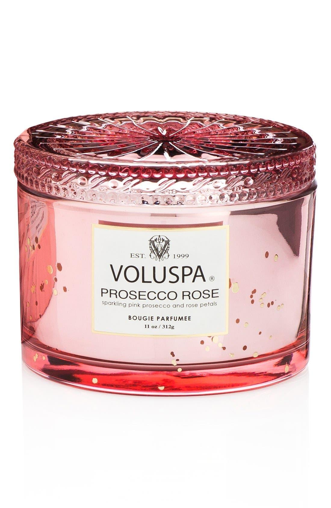 Voluspa Vermeil Prosecco Rose Corta Maison Candle