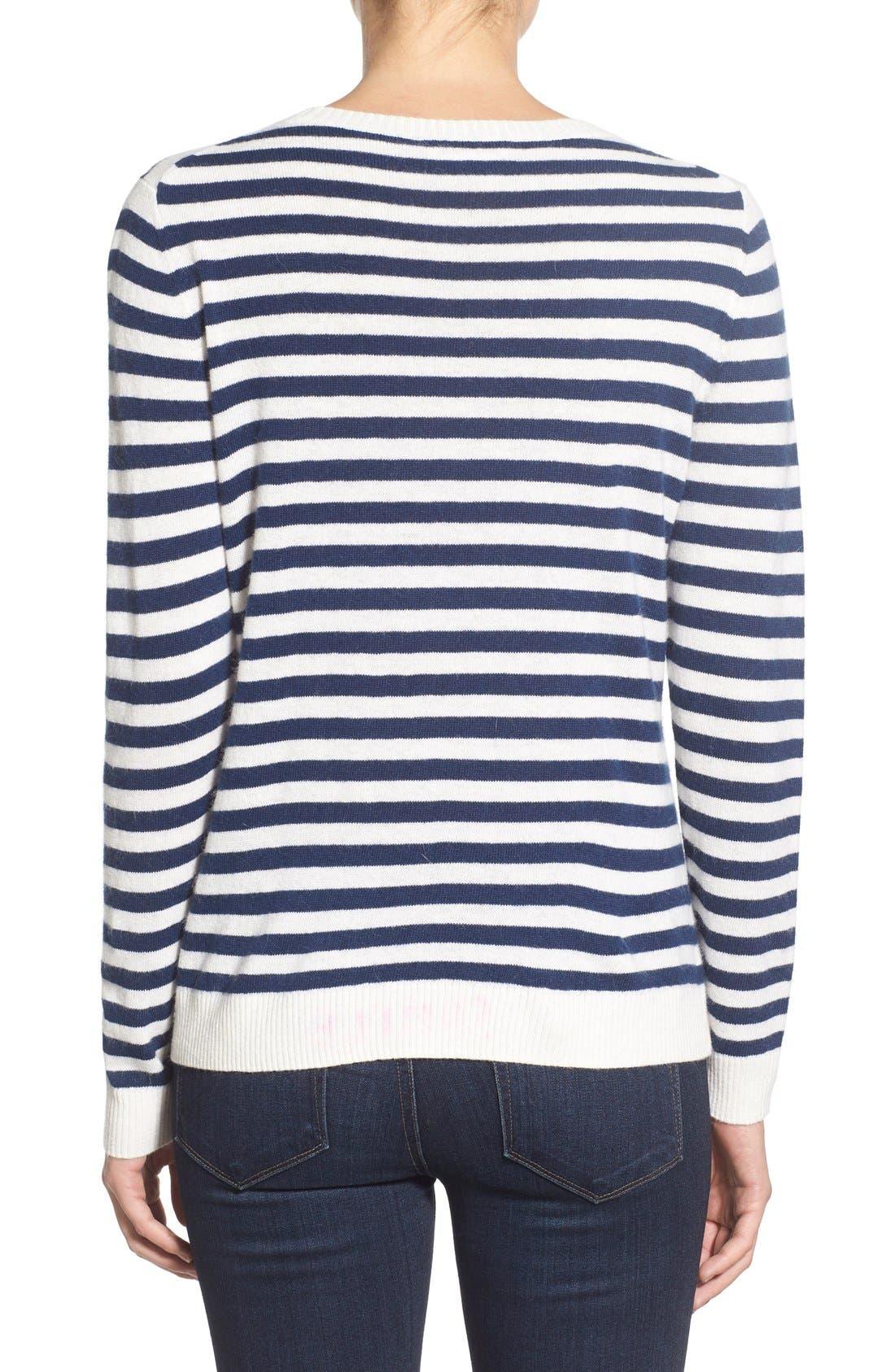 Alternate Image 2  - Vineyard Vines 'Nautical Stripe Whale' Crewneck Sweater