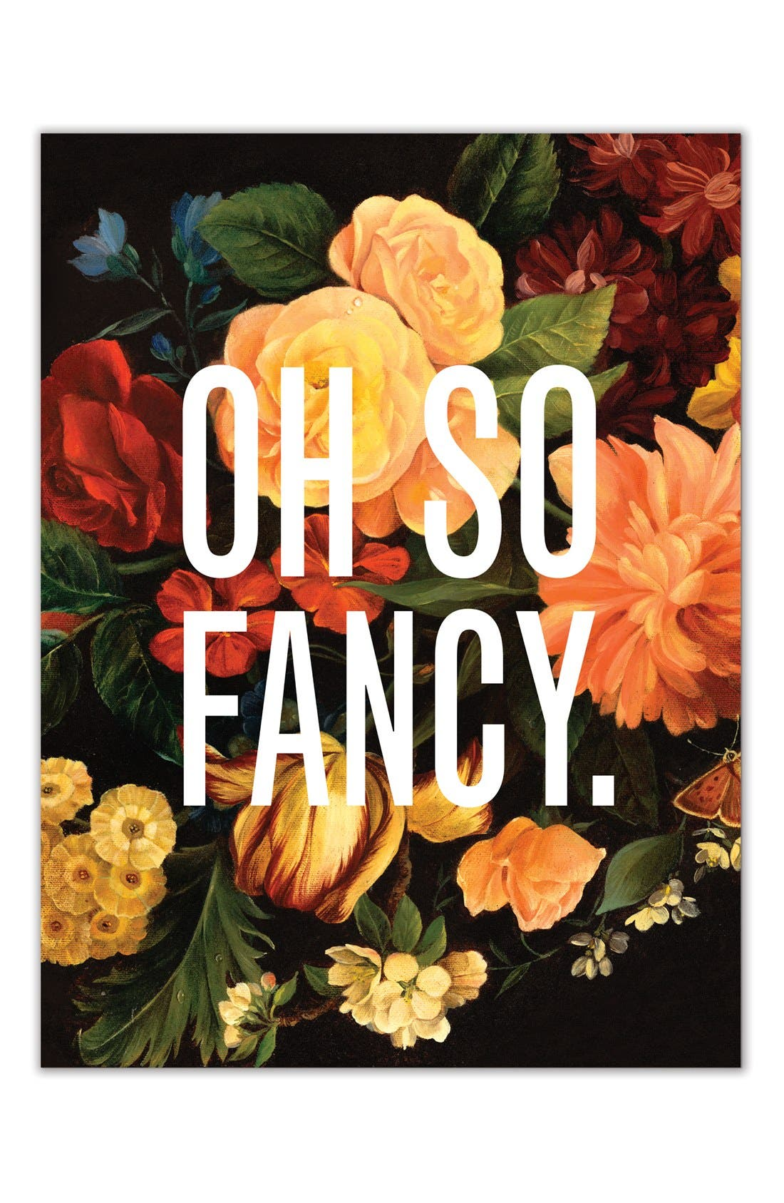 Alternate Image 1 Selected - Easy, Tiger 'Oh So Fancy' Print