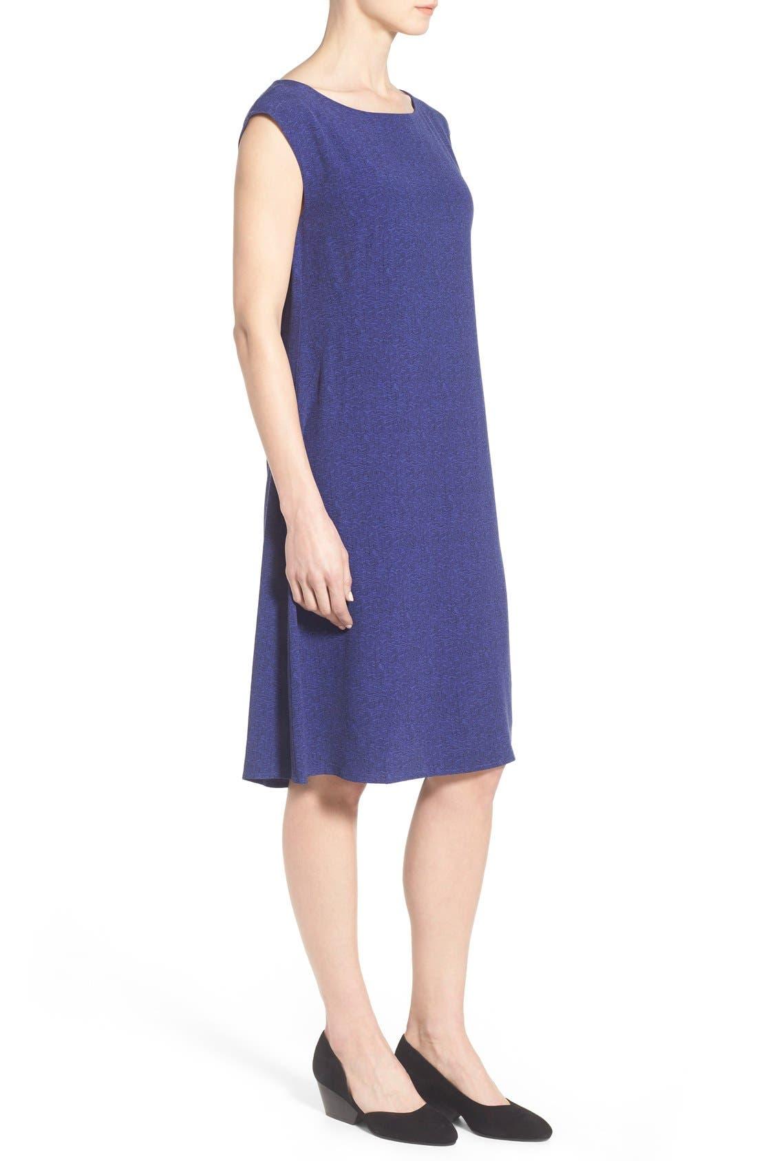 Alternate Image 3  - Eileen Fisher Print Ballet Neck Knee Length Dress