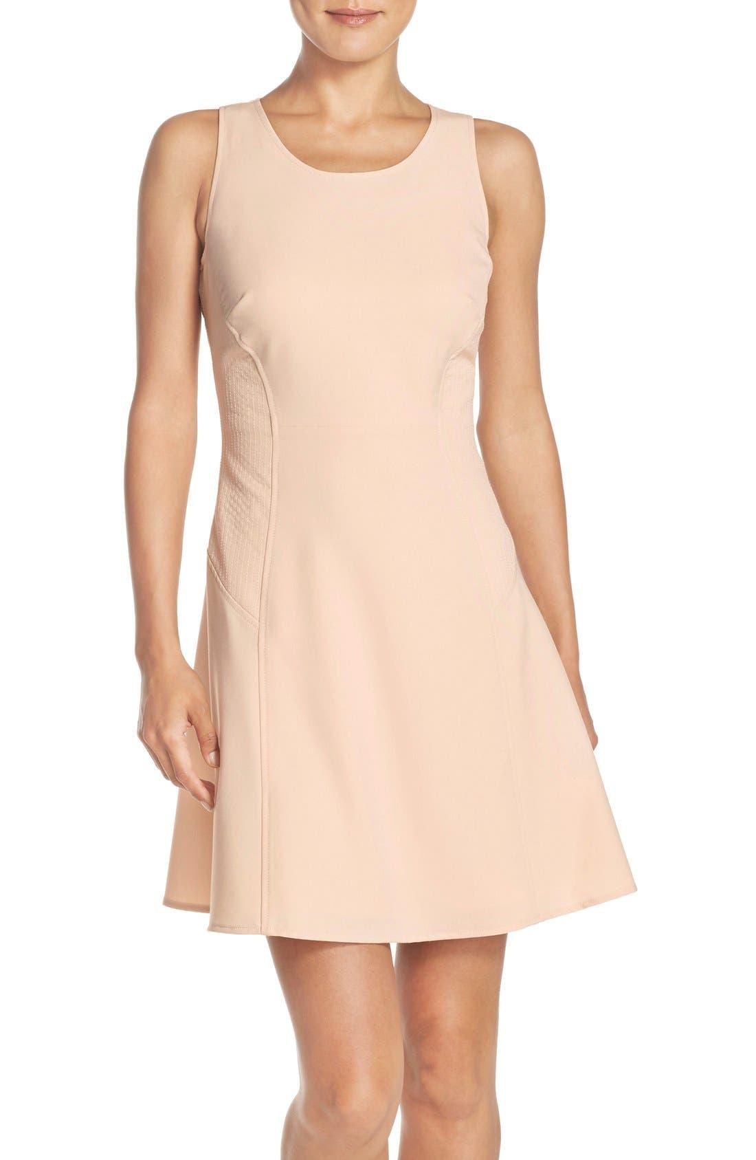 Alternate Image 1 Selected - Marc New York Scoop Neck Crepe Fit & Flare Dress