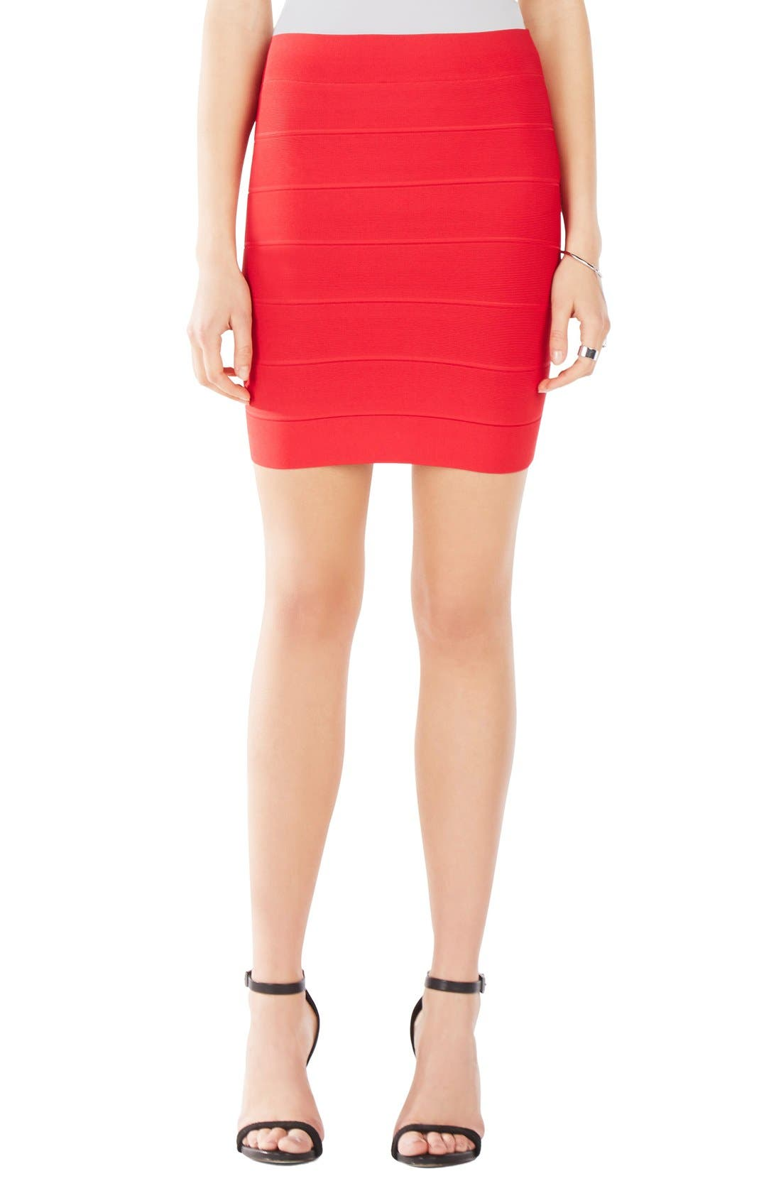 Alternate Image 1 Selected - BCBGMAXAZRIA 'Simone' Bandage Knit Pencil Skirt