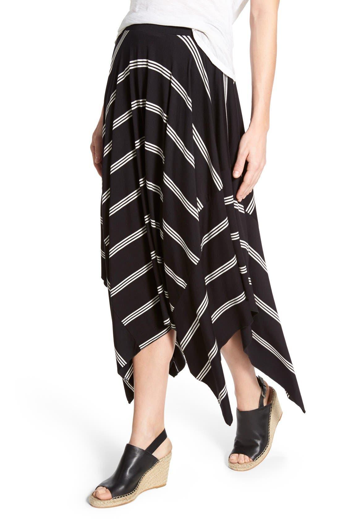 Alternate Image 4  - Halogen® Stretch Knit Handkerchief Hem Maxi Skirt (Regular & Petite)