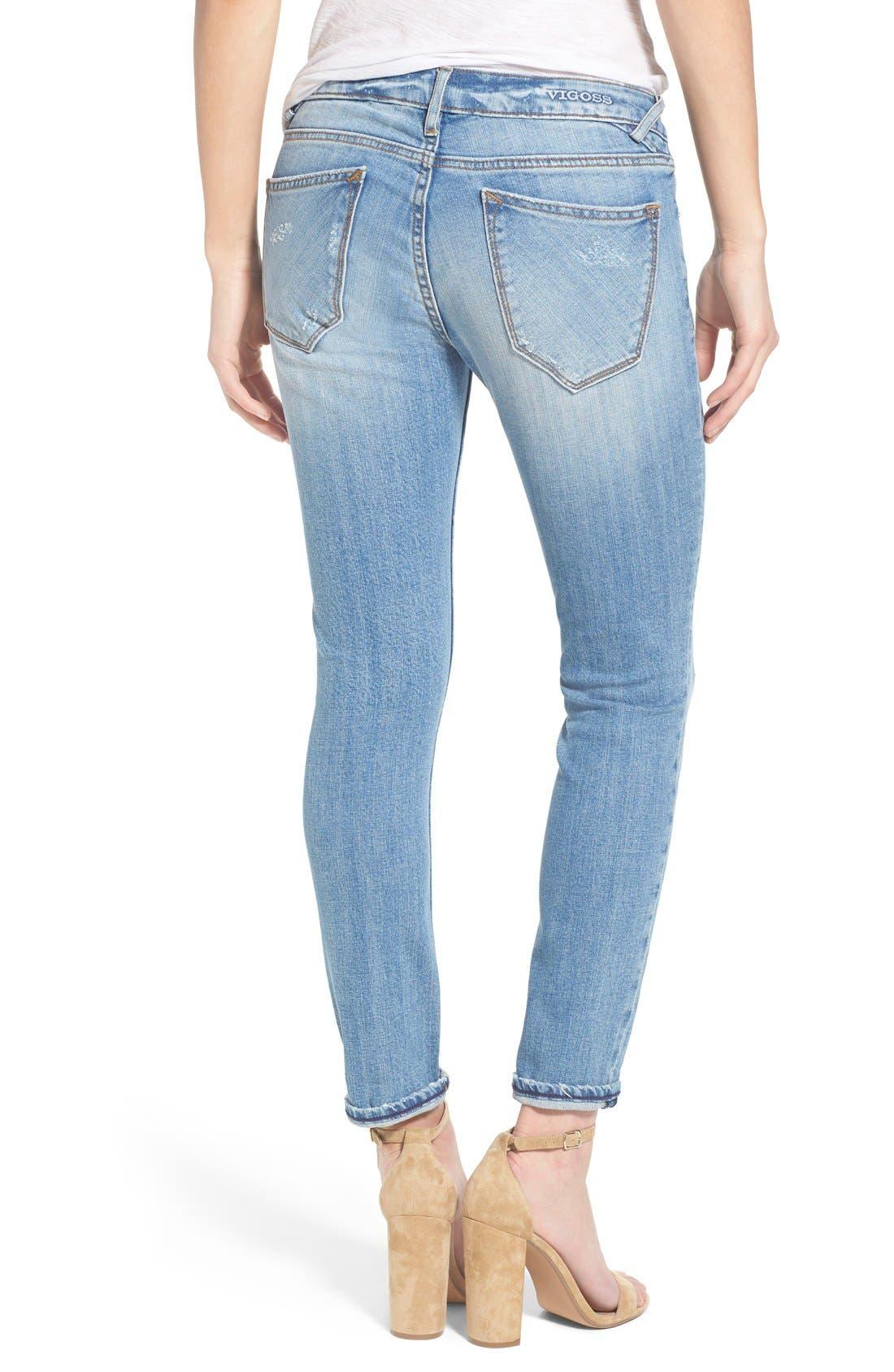 Alternate Image 2  - Vigoss 'Tomboy 'Thompson' Distressed Boyfriend Jeans