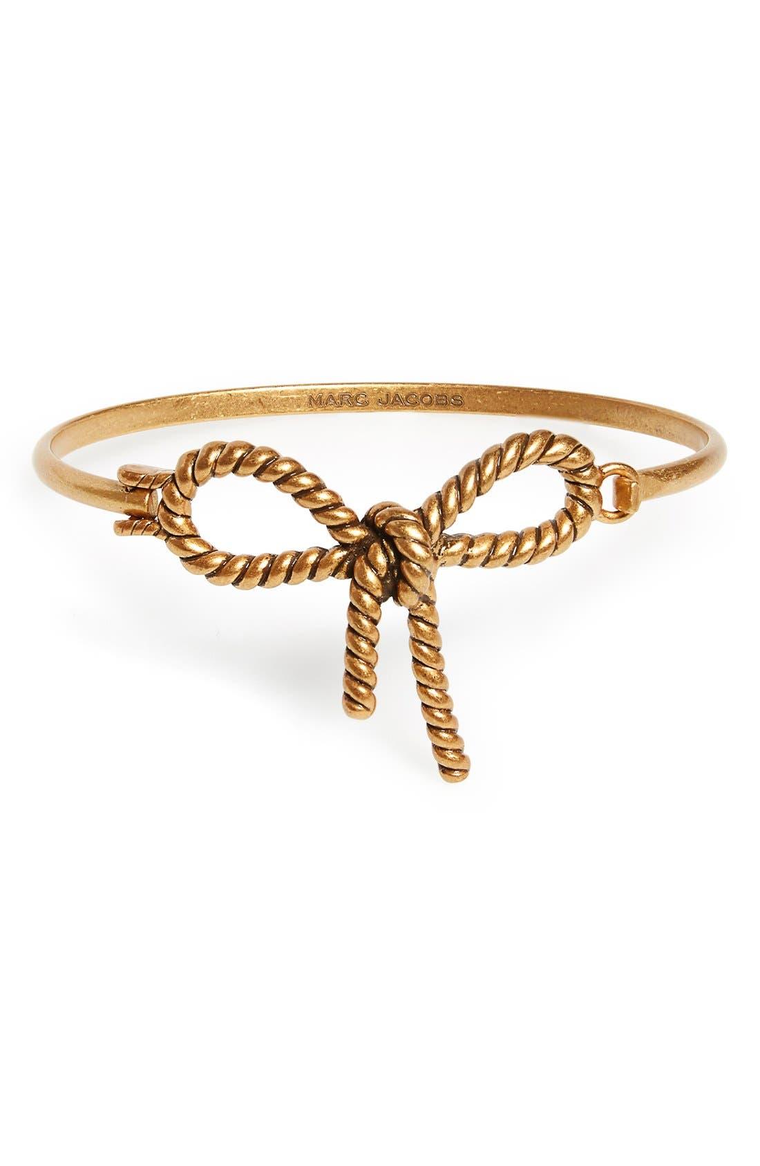 Alternate Image 1 Selected - MARC JACOBS Rope Bow Hinge Bracelet