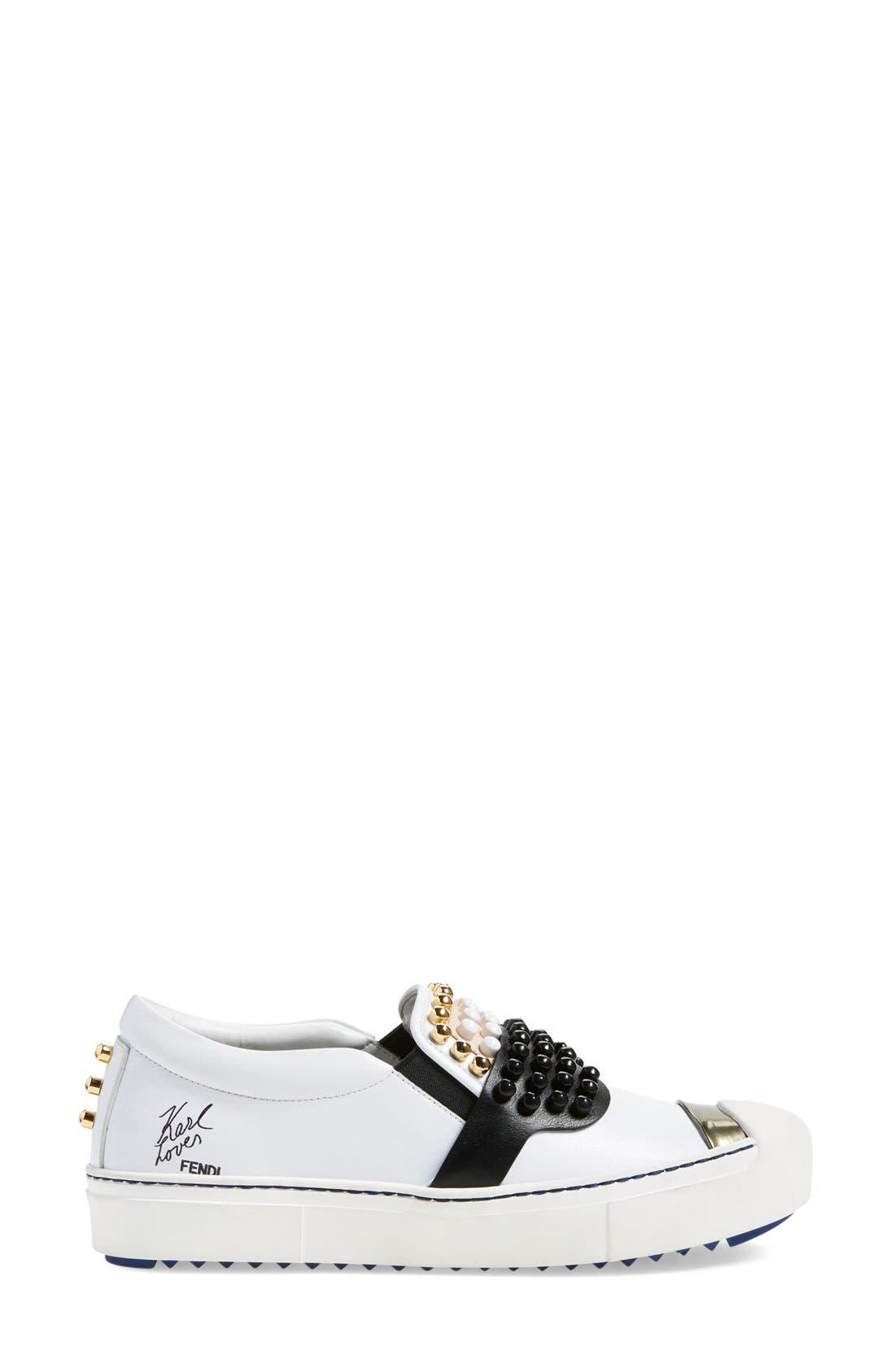 Alternate Image 4  - Fendi 'Karlito' Slip-On Sneaker (Women)