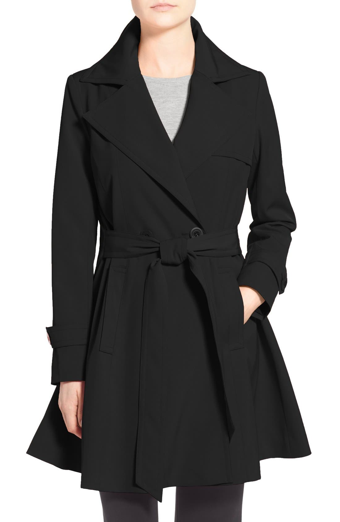 Alternate Image 1 Selected - Trina Turk 'Phoebe' Double Breasted Trench Coat (Online Only) (Regular & Petite)