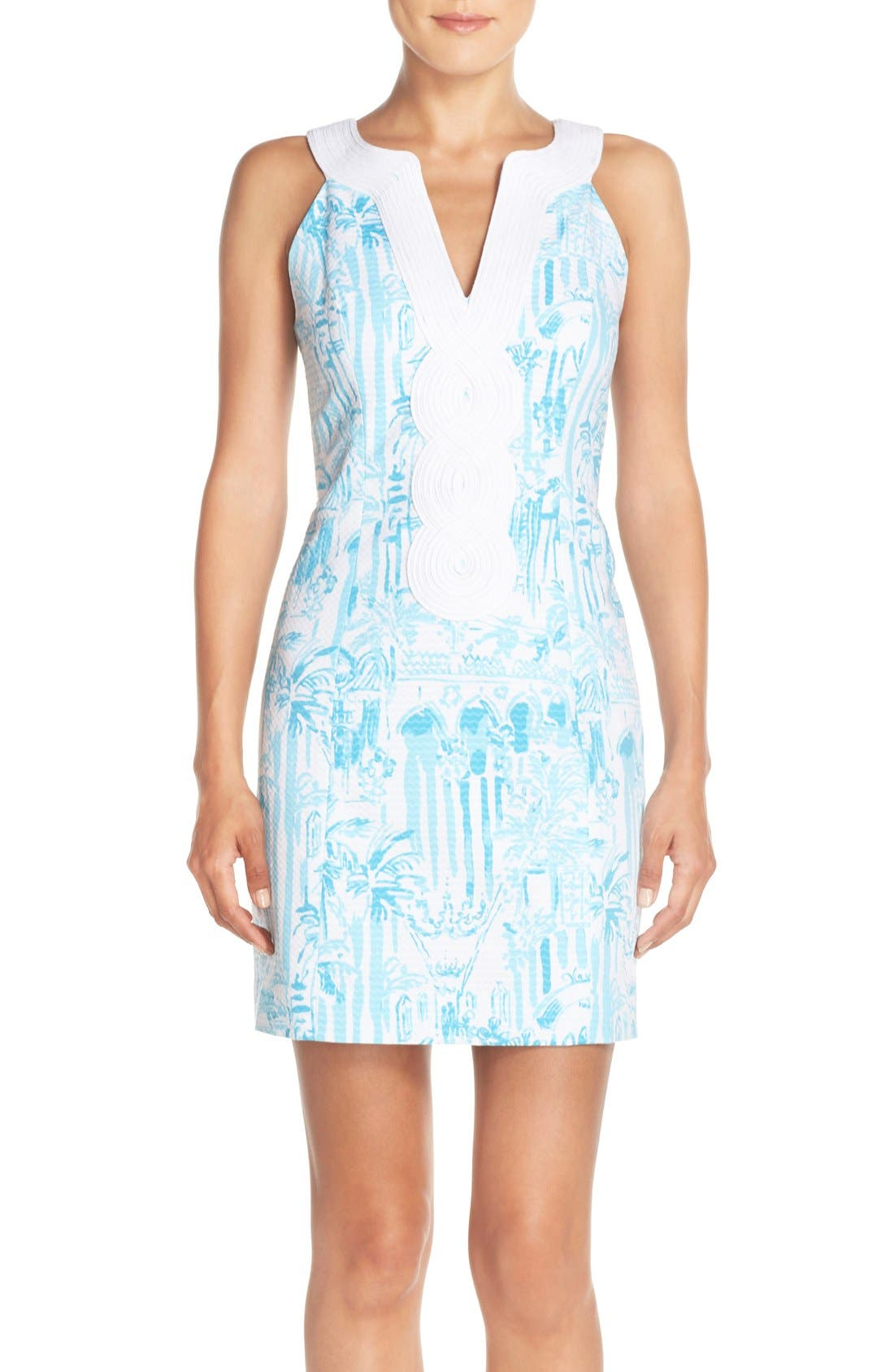 Alternate Image 1 Selected - Lilly Pulitzer® 'Valli' Soutache Print Jacquard Sheath Dress