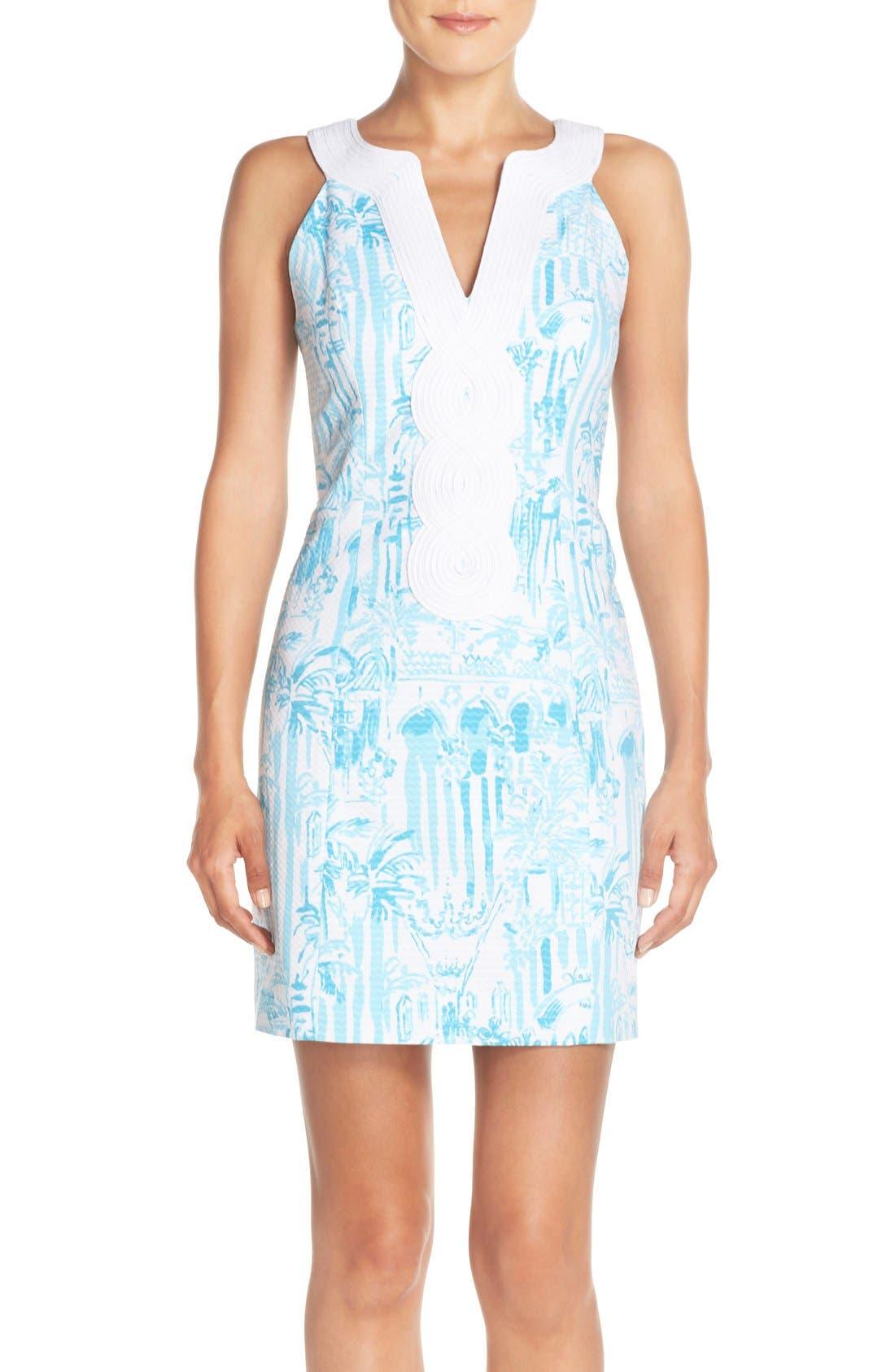 Main Image - Lilly Pulitzer® 'Valli' Soutache Print Jacquard Sheath Dress