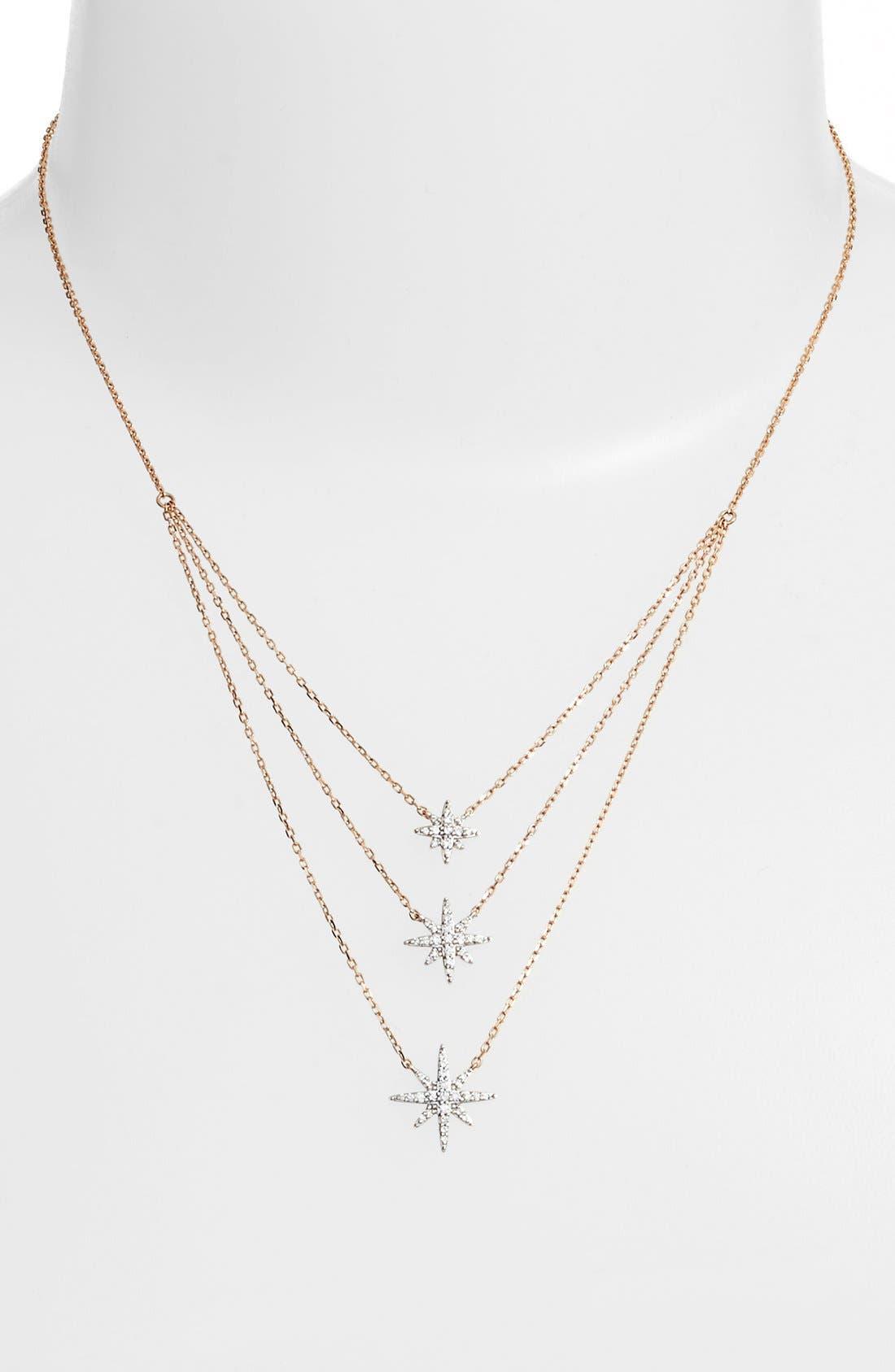 Alternate Image 2  - Bony Levy 'Ella' Diamond Multilayer Star Pendant Necklace (Nordstrom Exclusive)