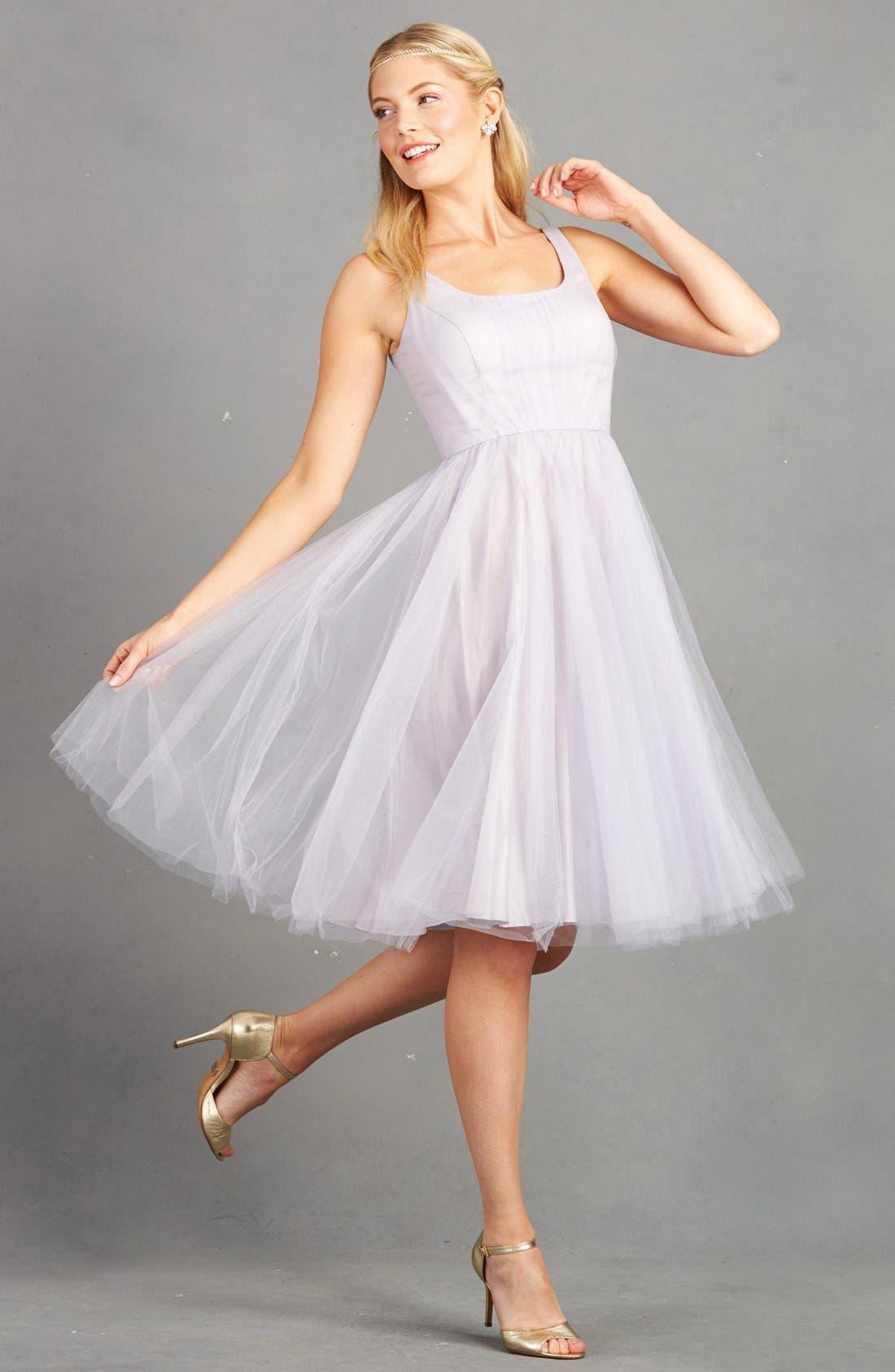 Alternate Image 6  - Donna Morgan 'Chantal' Tulle Fit & Flare Midi Dress
