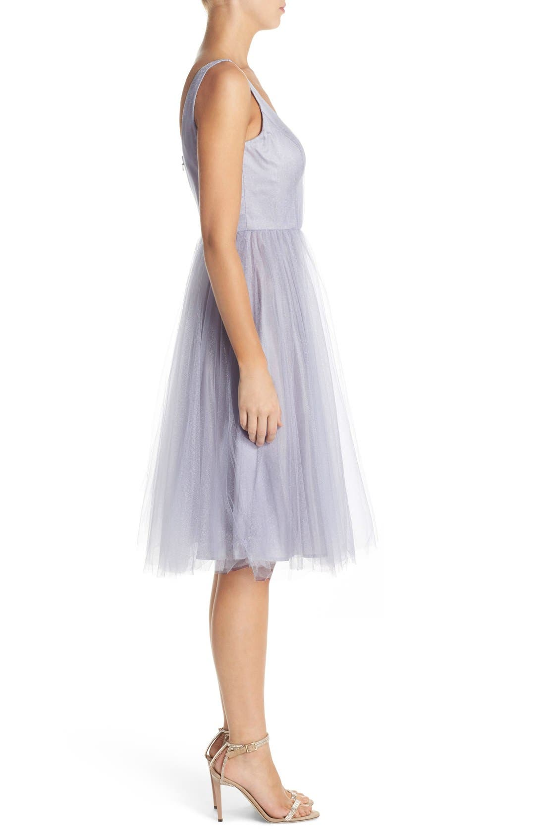 Alternate Image 3  - Donna Morgan 'Chantal' Tulle Fit & Flare Midi Dress