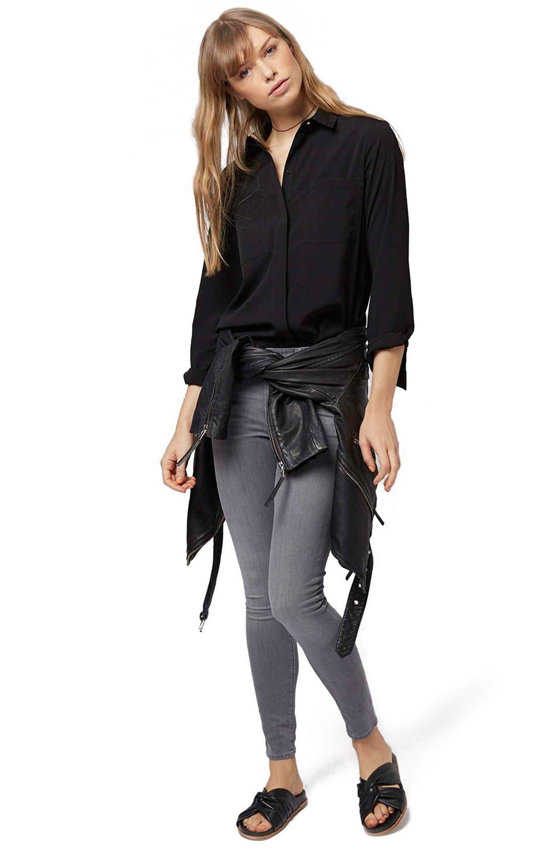 Alternate Image 2  - Topshop 'Sandy Olivia' Button Down Shirt