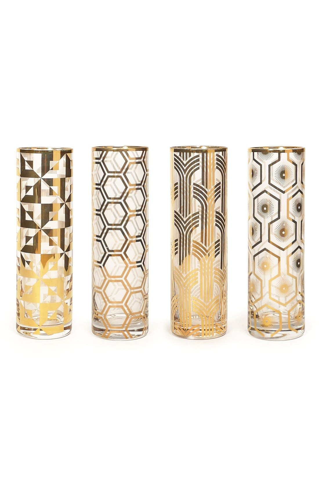 Alternate Image 1 Selected - Rosanna Art Deco Champagne Flutes (Set of 4)