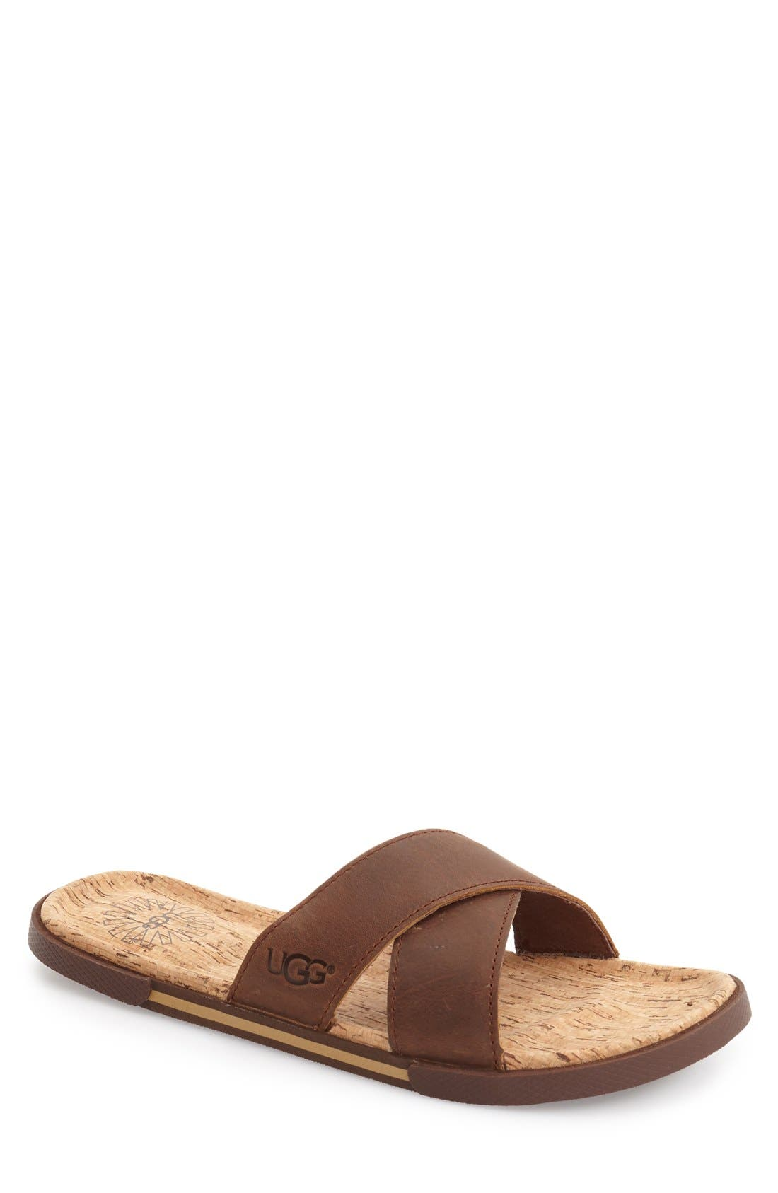 Alternate Image 1 Selected - UGG® 'Ithan' Slide Sandal (Men's)