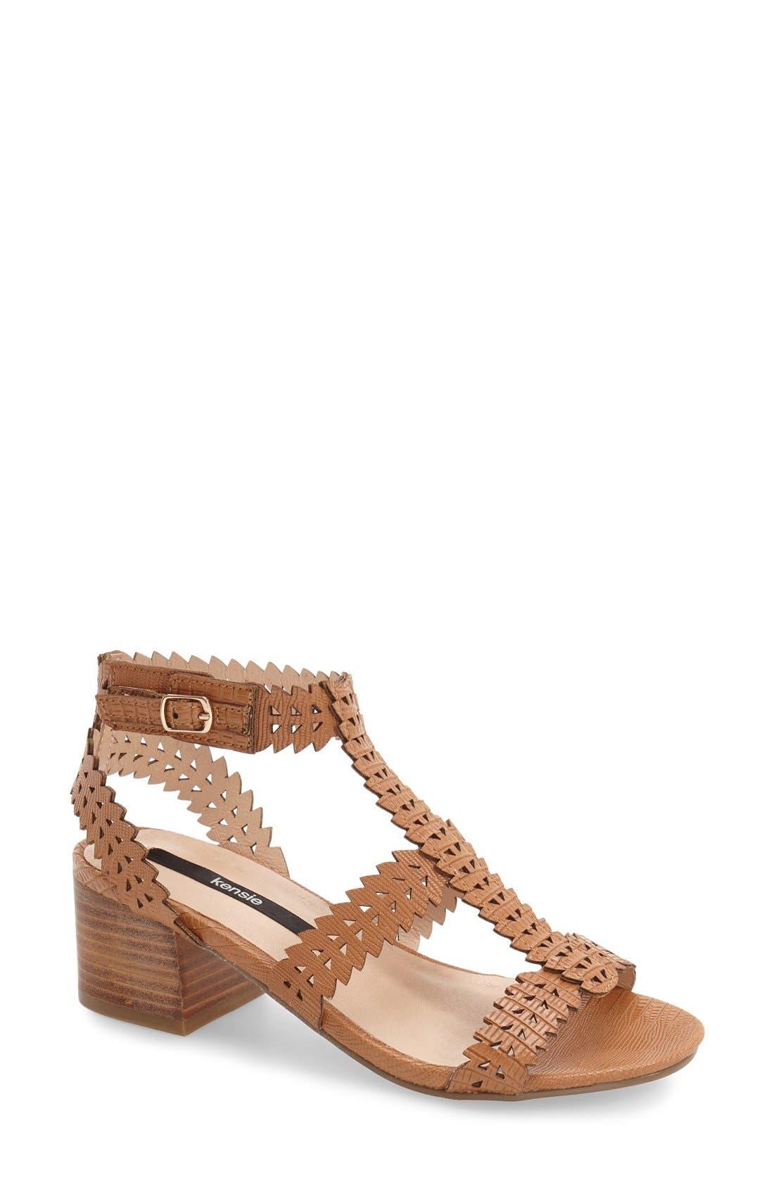 Alternate Image 1 Selected - kensie 'Hepburn' Block Heel Sandal (Women)