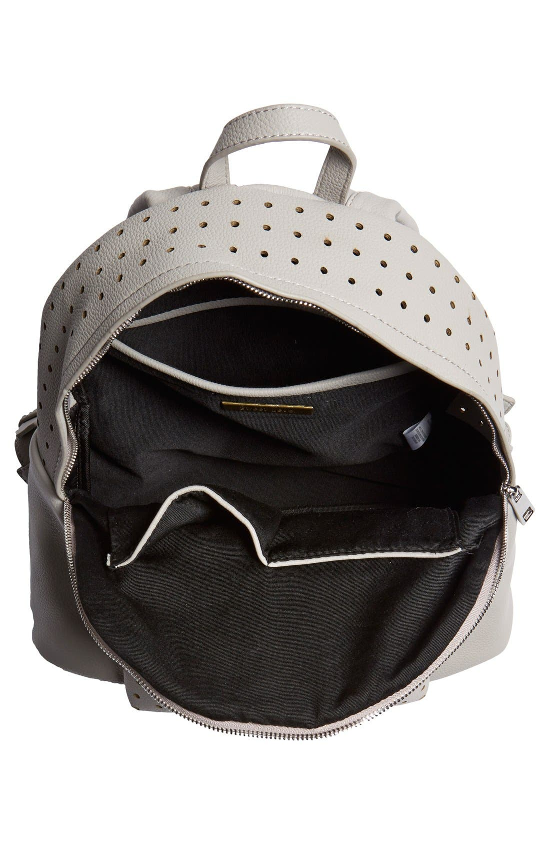Alternate Image 4  - Street Level Perforated Faux Leather Backpack