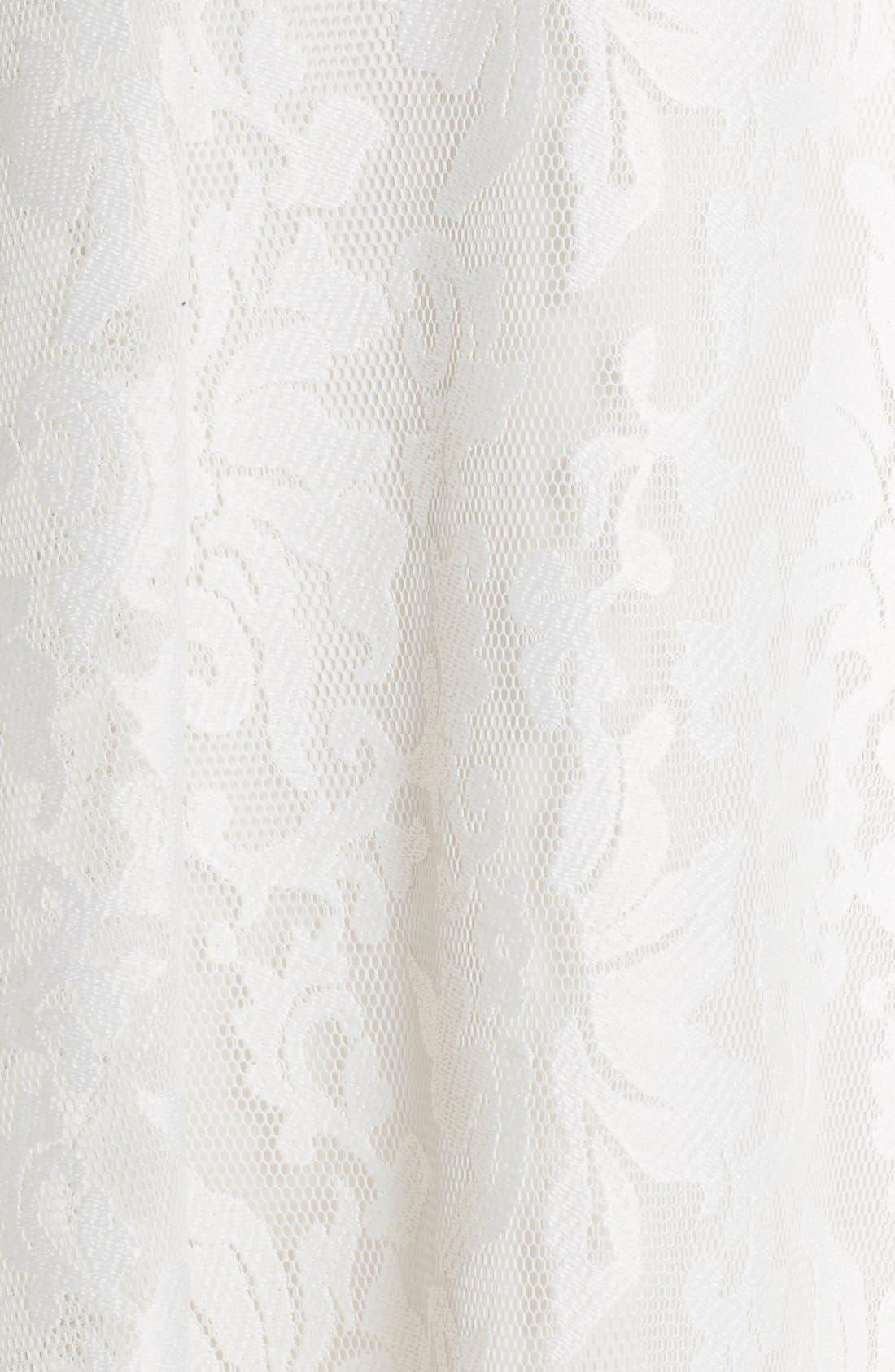 Alternate Image 5  - Ted Baker London 'Deah' V-Neck Bonded Mesh Lace Dress