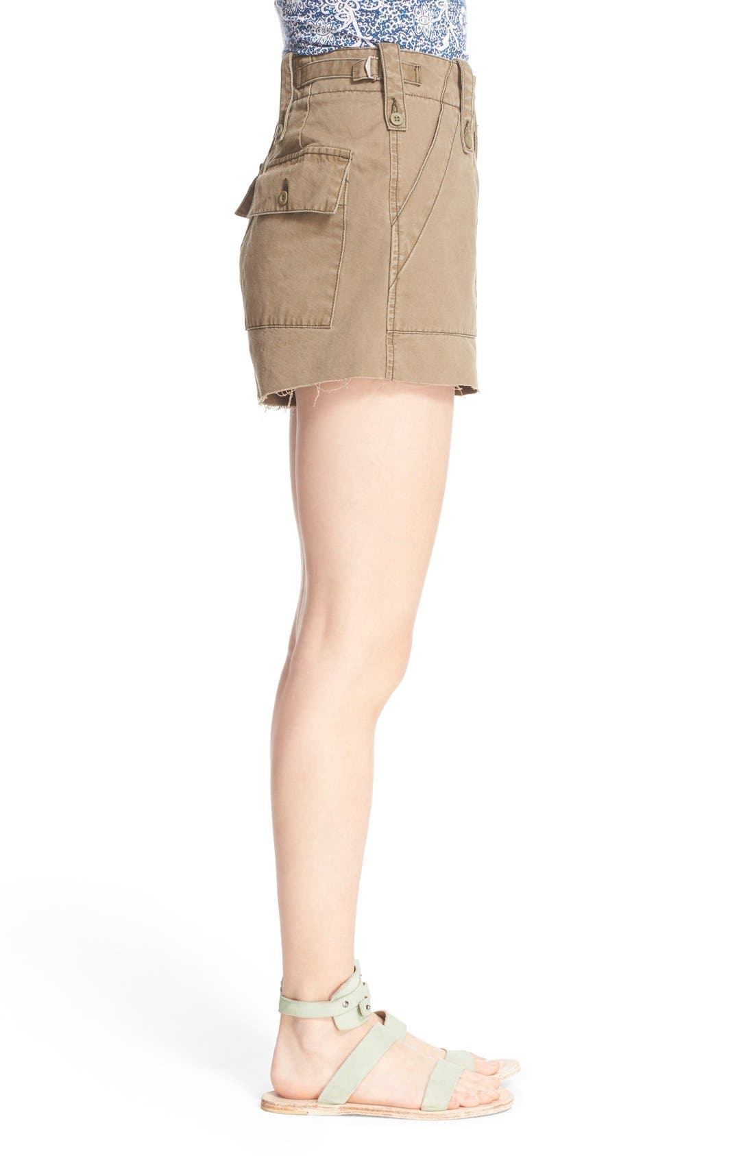 Alternate Image 3  - Free People 'Gunner' High Rise Twill Shorts