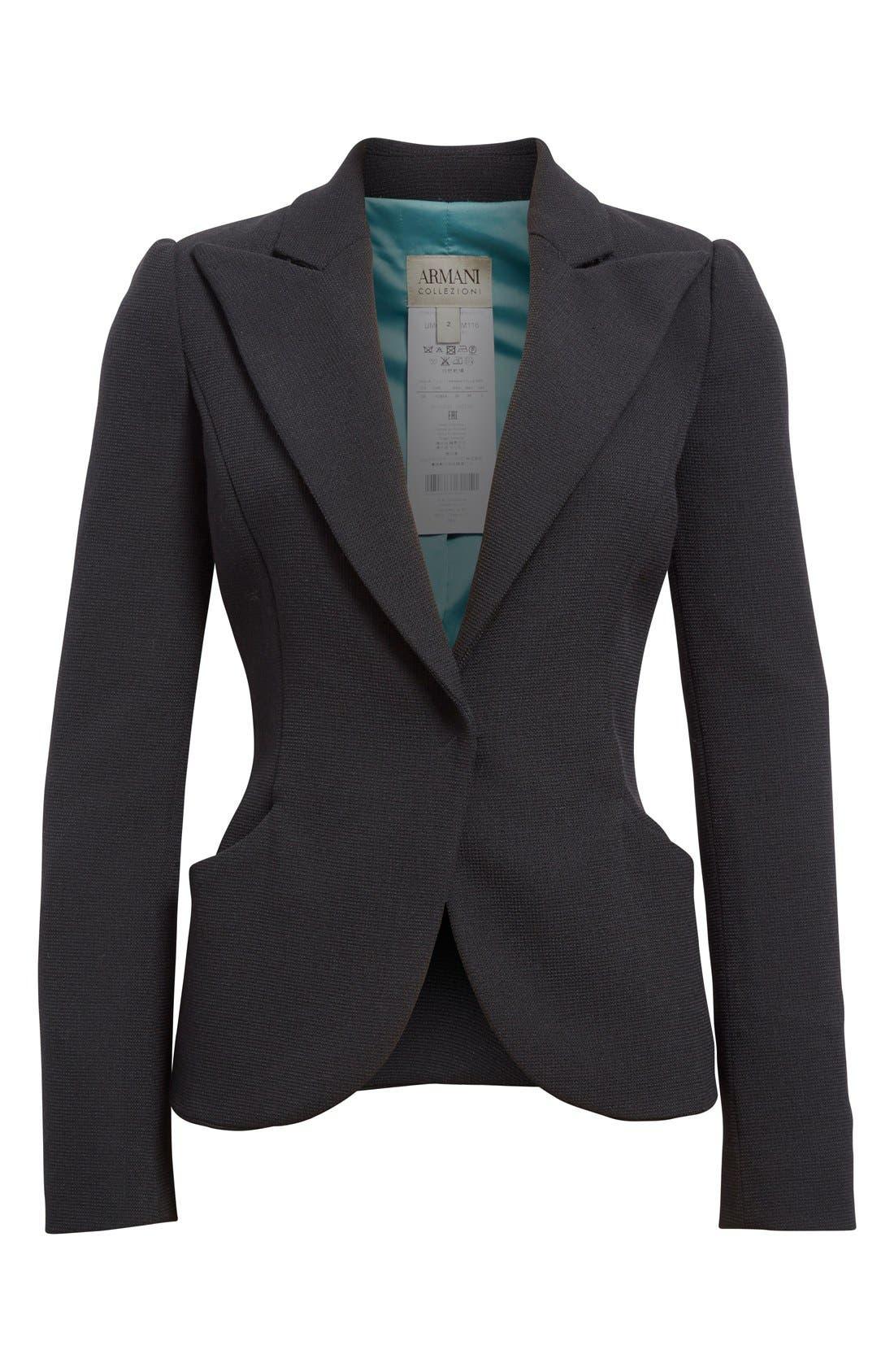 Alternate Image 4  - Armani Collezioni Two-Way Stretch Jacket