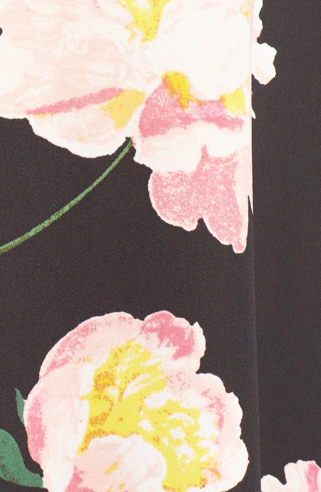 Alternate Image 6  - Adrianna Papell Floral Crêpe de Chine Shirtdress