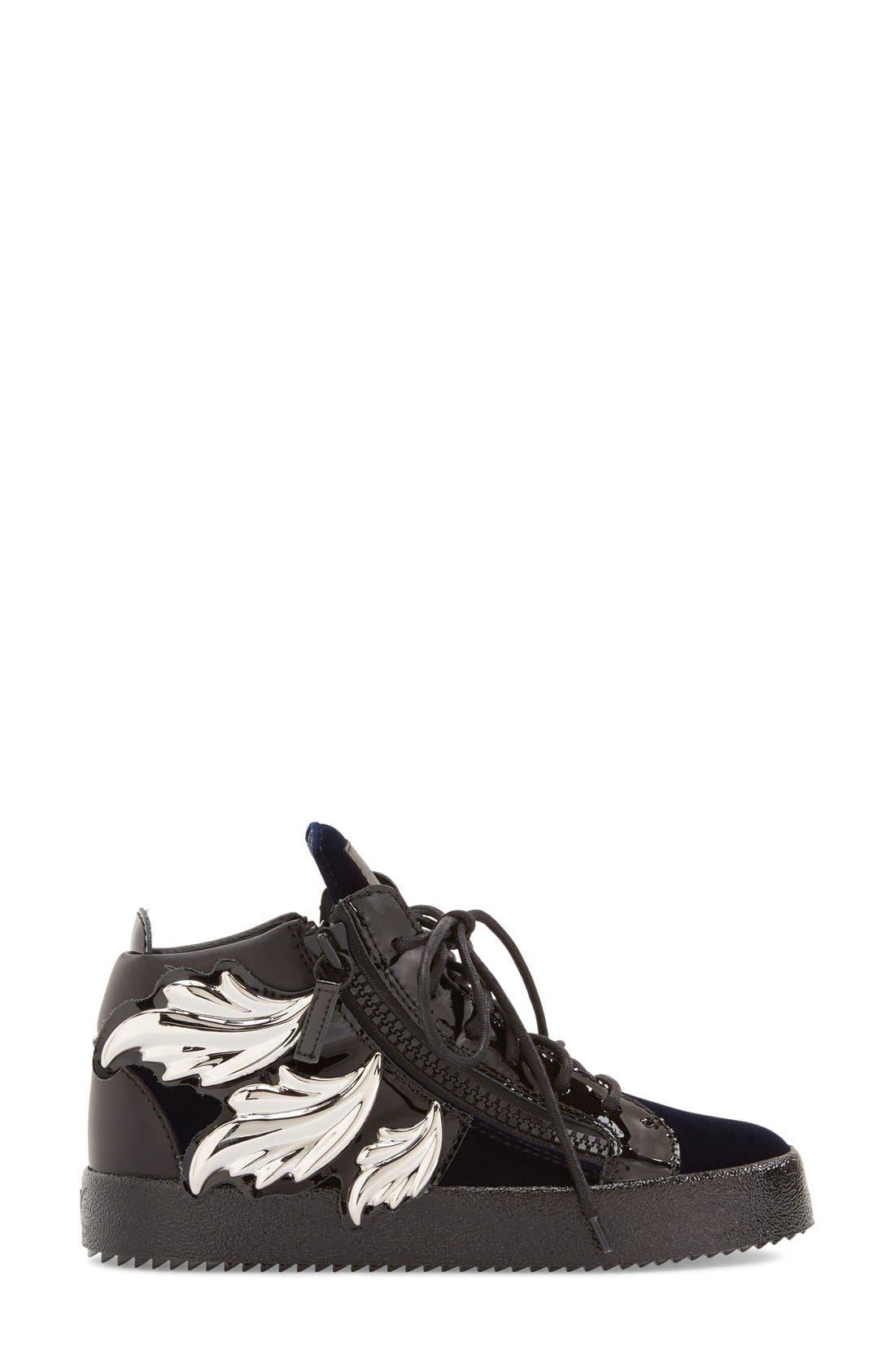 Alternate Image 4  - Giuseppe Zanotti 'May London' High Top Sneaker (Women)
