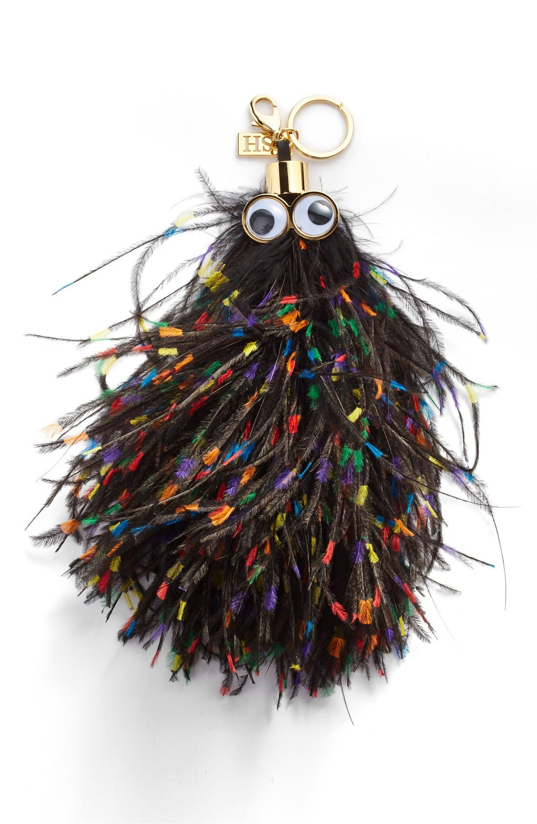 Alternate Image 1 Selected - Sophie Hulme 'George' Feather Bag Charm