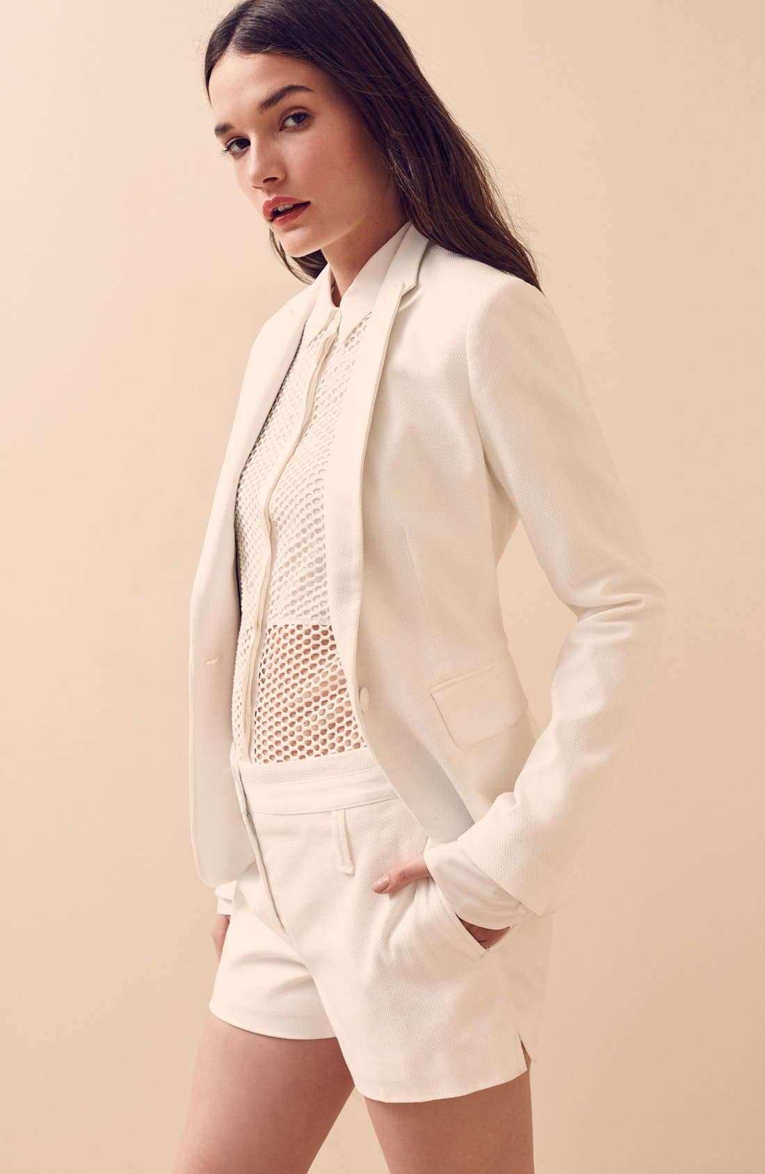 Alternate Image 6  - rag & bone 'Luna' Stretch Cotton Mesh Shirt