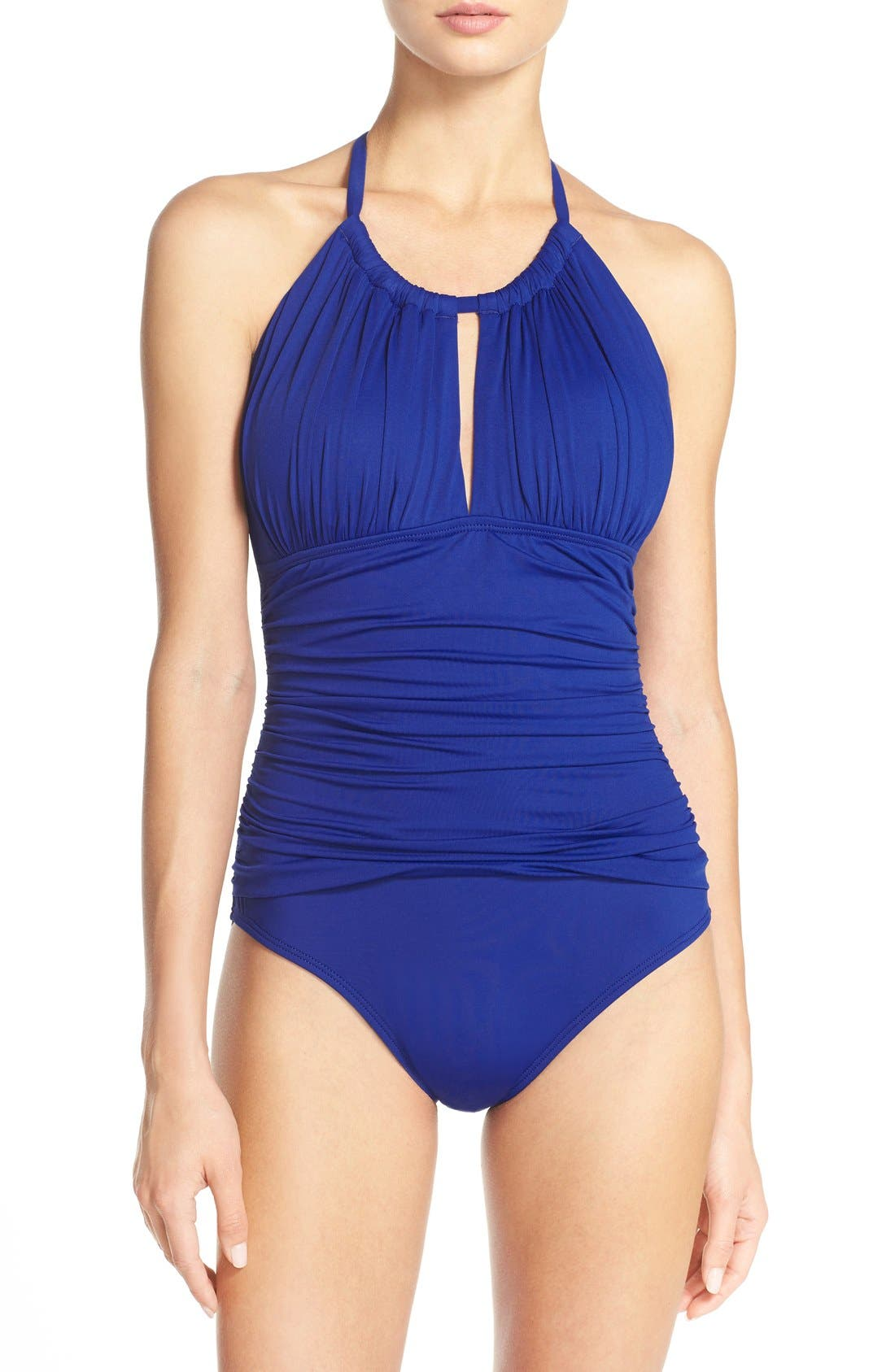 Main Image - La Blanca 'Mio' Halter One-Piece Swimsuit