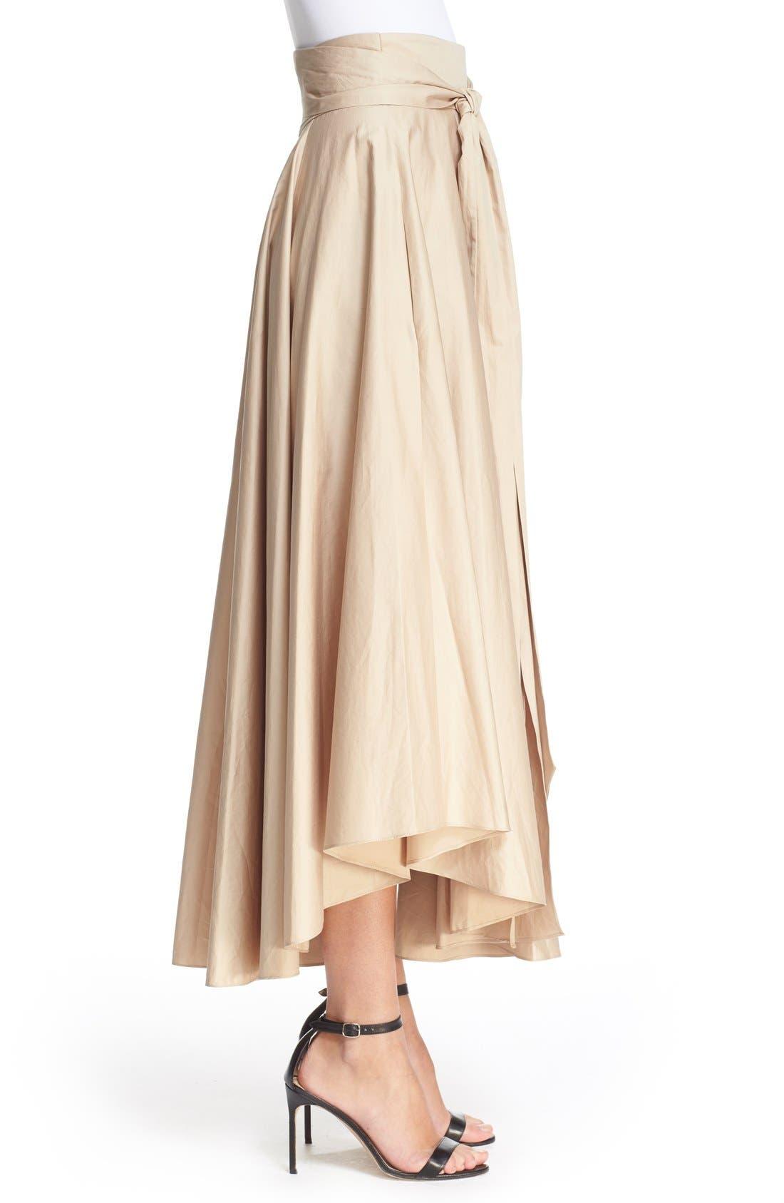 Alternate Image 3  - Tibi Belted Cotton Maxi Skirt