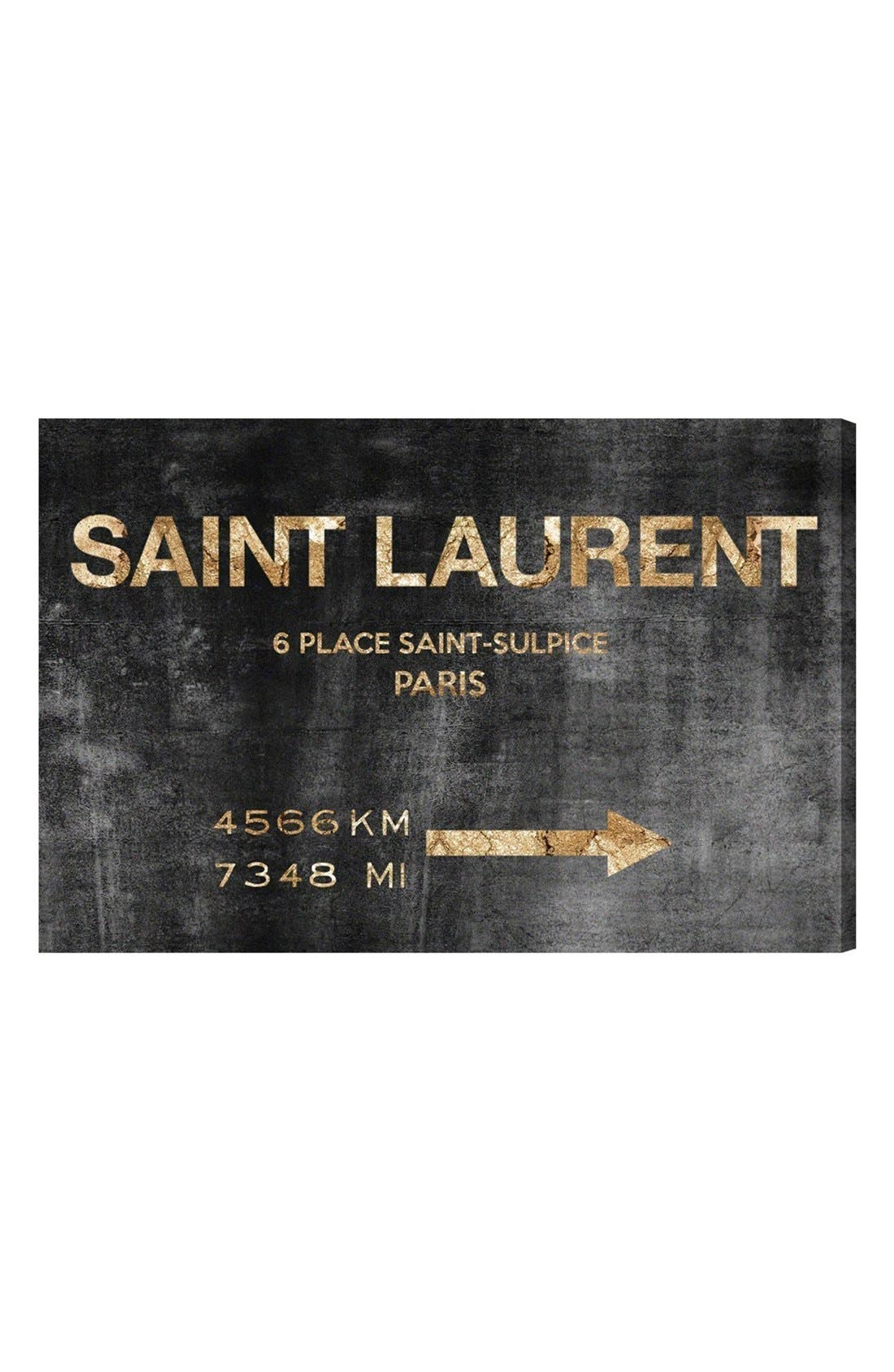 Alternate Image 1 Selected - Oliver Gal 'Saint-Sulpice Road' Canvas Wall Art