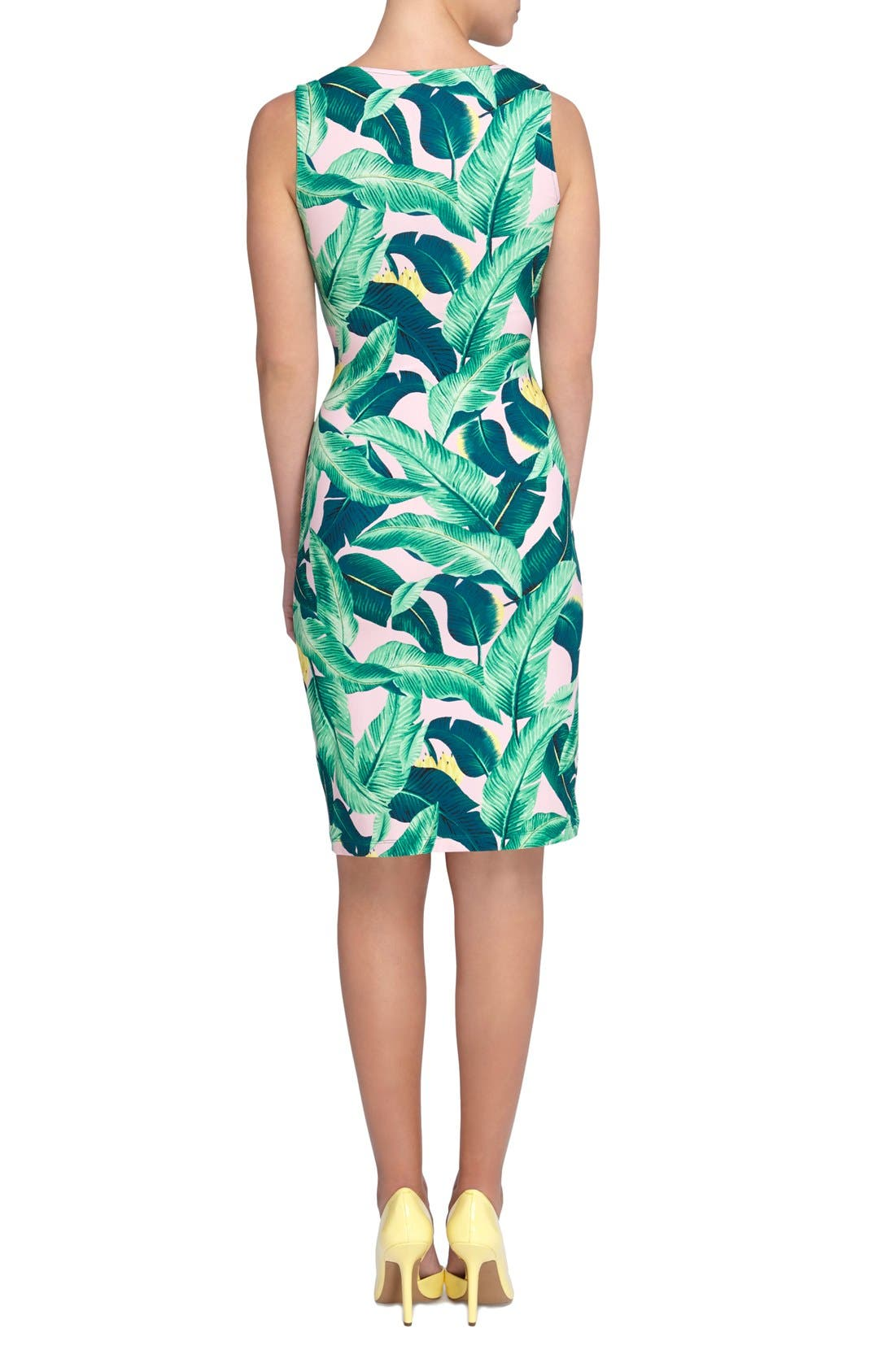 Alternate Image 2  - Catherine Catherine Malandrino 'Adele' Tropical Print Sheath Dress