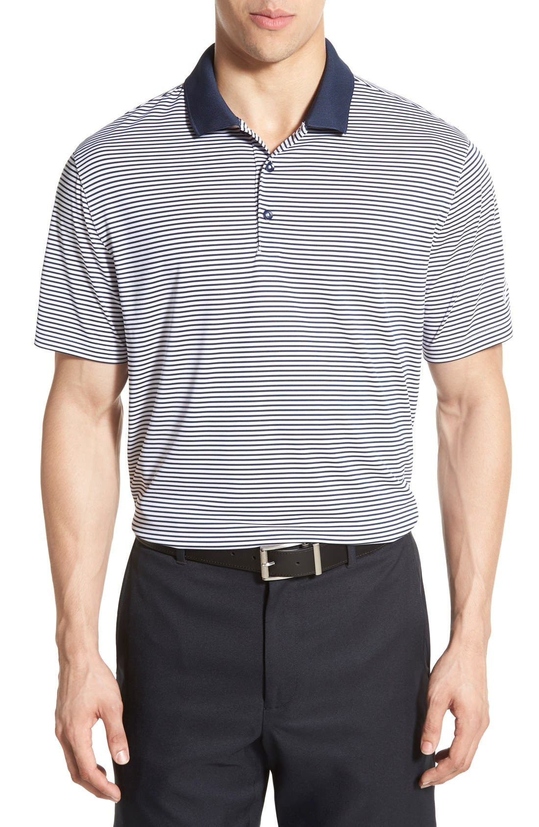 Nike 'Victory Stripe' Dri-FIT Golf Polo