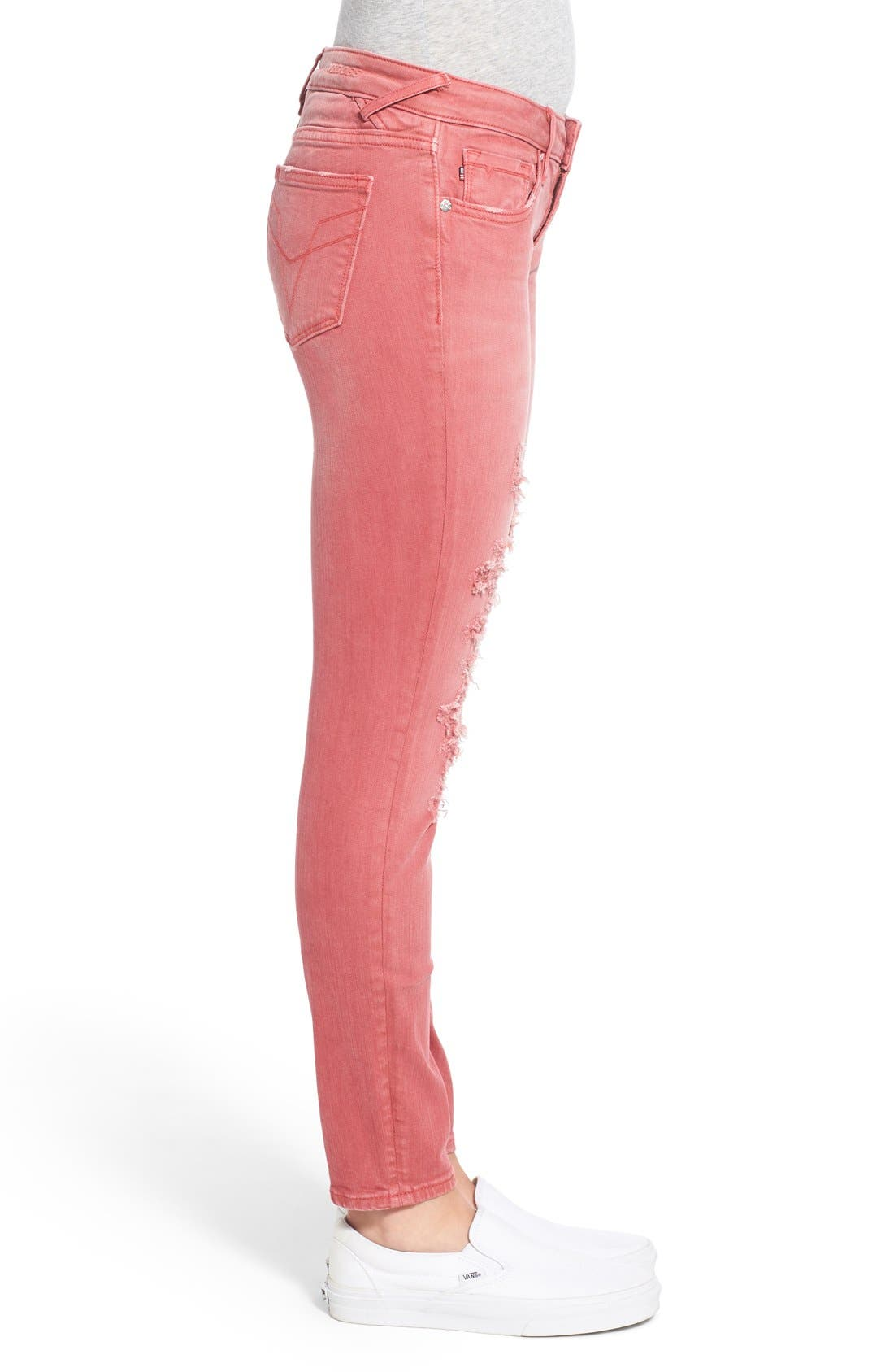Alternate Image 3  - Vigoss 'Chelsea' Distressed Skinny Jeans