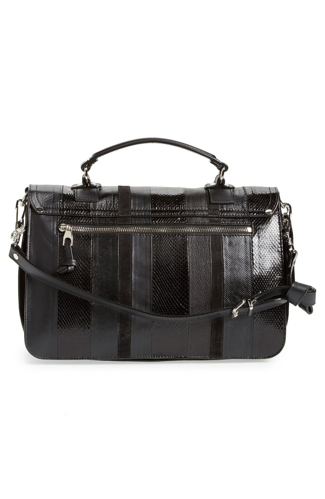 Alternate Image 3  - Proenza Schouler 'Medium PS1 - Exotic Stripe' Genuine Snakeskin & Leather Satchel
