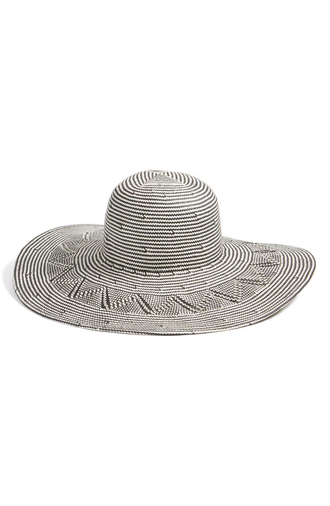 Hinge Zigzag Woven Sun Hat