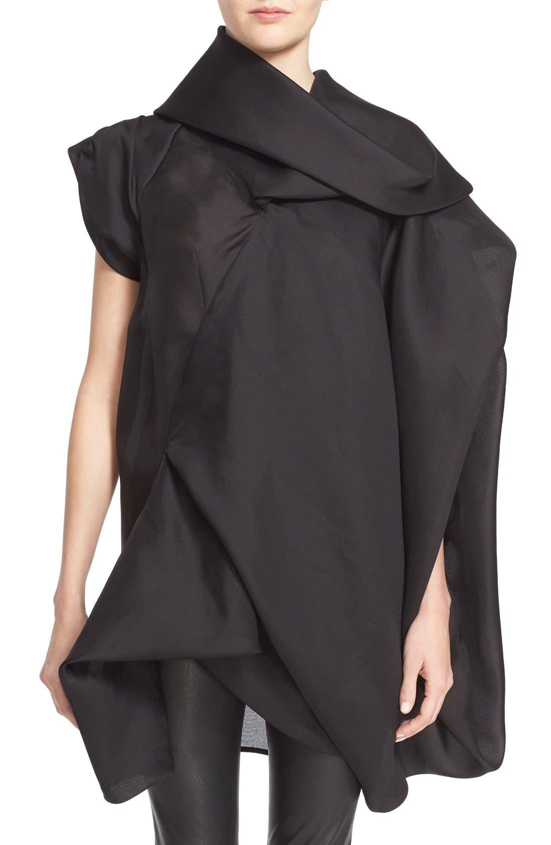Alternate Image 1 Selected - Rick Owens Draped Silk Tunic