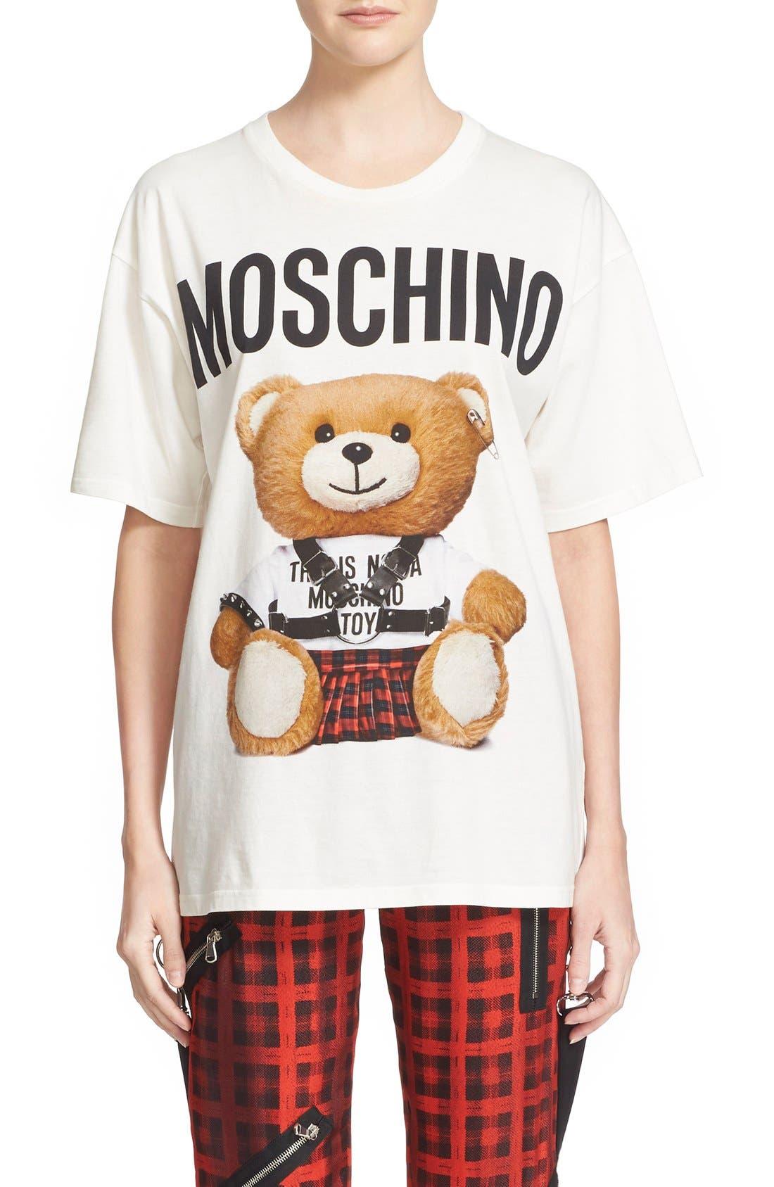 Alternate Image 1  - Moschino Teddy Print Cotton Tee
