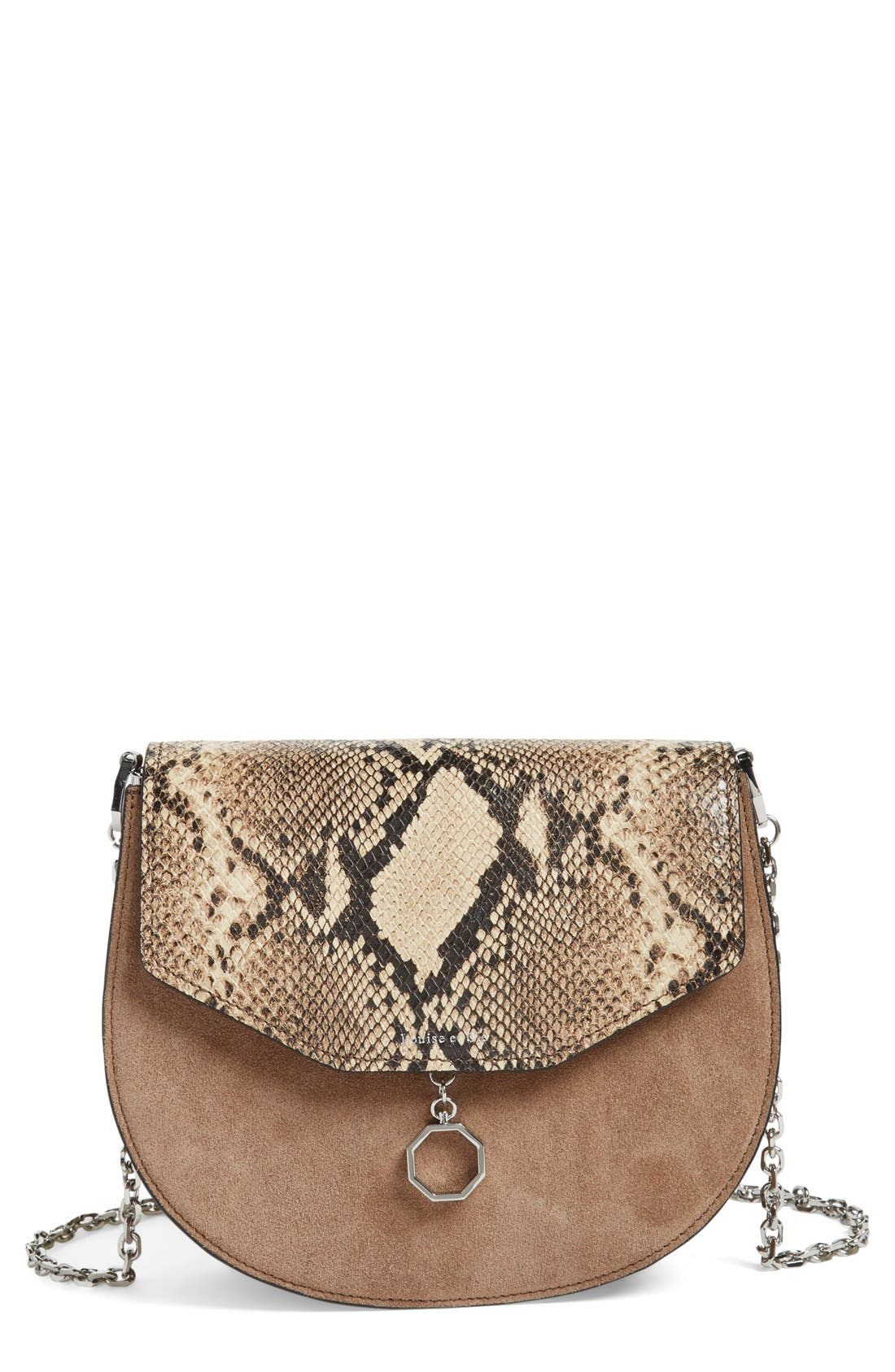 Alternate Image 1 Selected - Louise et Cie 'Jael' Suede & Leather Shoulder Bag