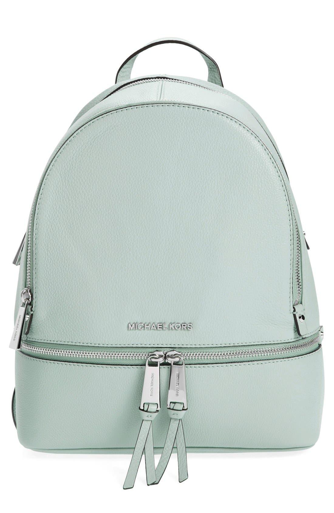Main Image - MICHAEL Michael Kors 'Small Rhea Zip' Leather Backpack