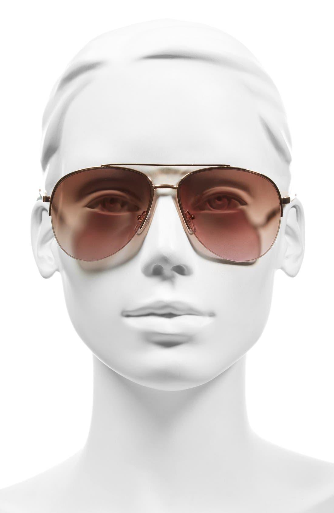 Alternate Image 2  - BP. 60mm Gradient Metal Aviator Sunglasses
