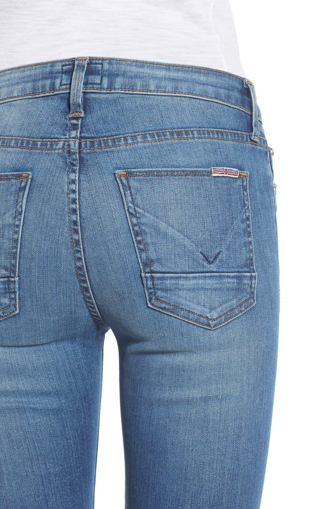 Alternate Image 4  - Hudson Jeans 'Mia' Raw Hem Crop Flare Jeans (Carve)