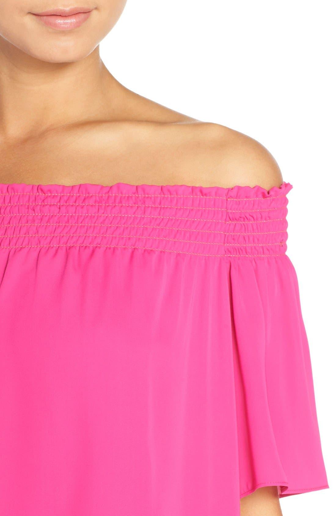 Alternate Image 4  - Amanda Uprichard 'Cleo' Popover Off the Shoulder Dress