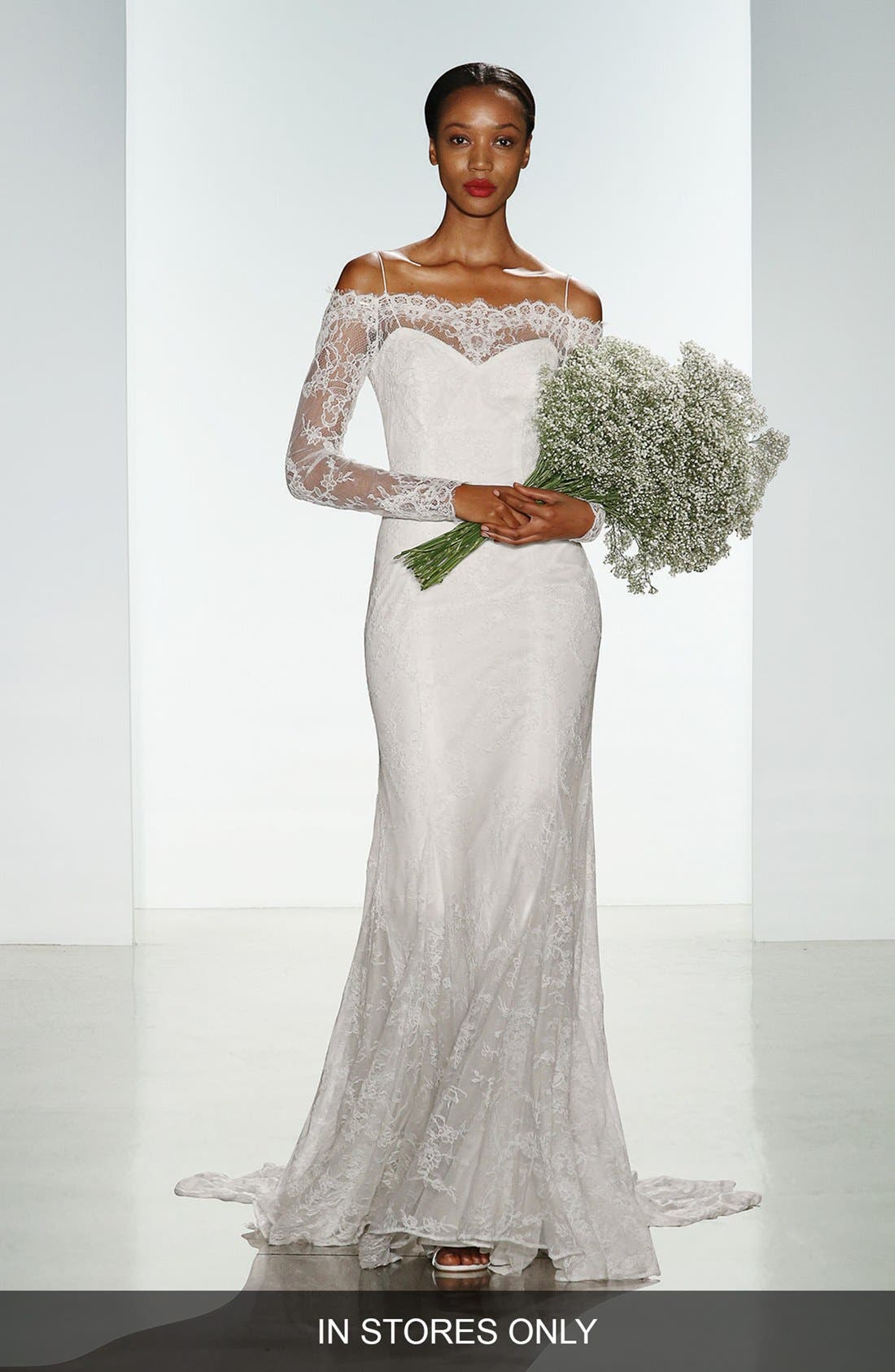 CHRISTOS BRIDAL 'Tilly' Long Sleeve Off the Shoulder