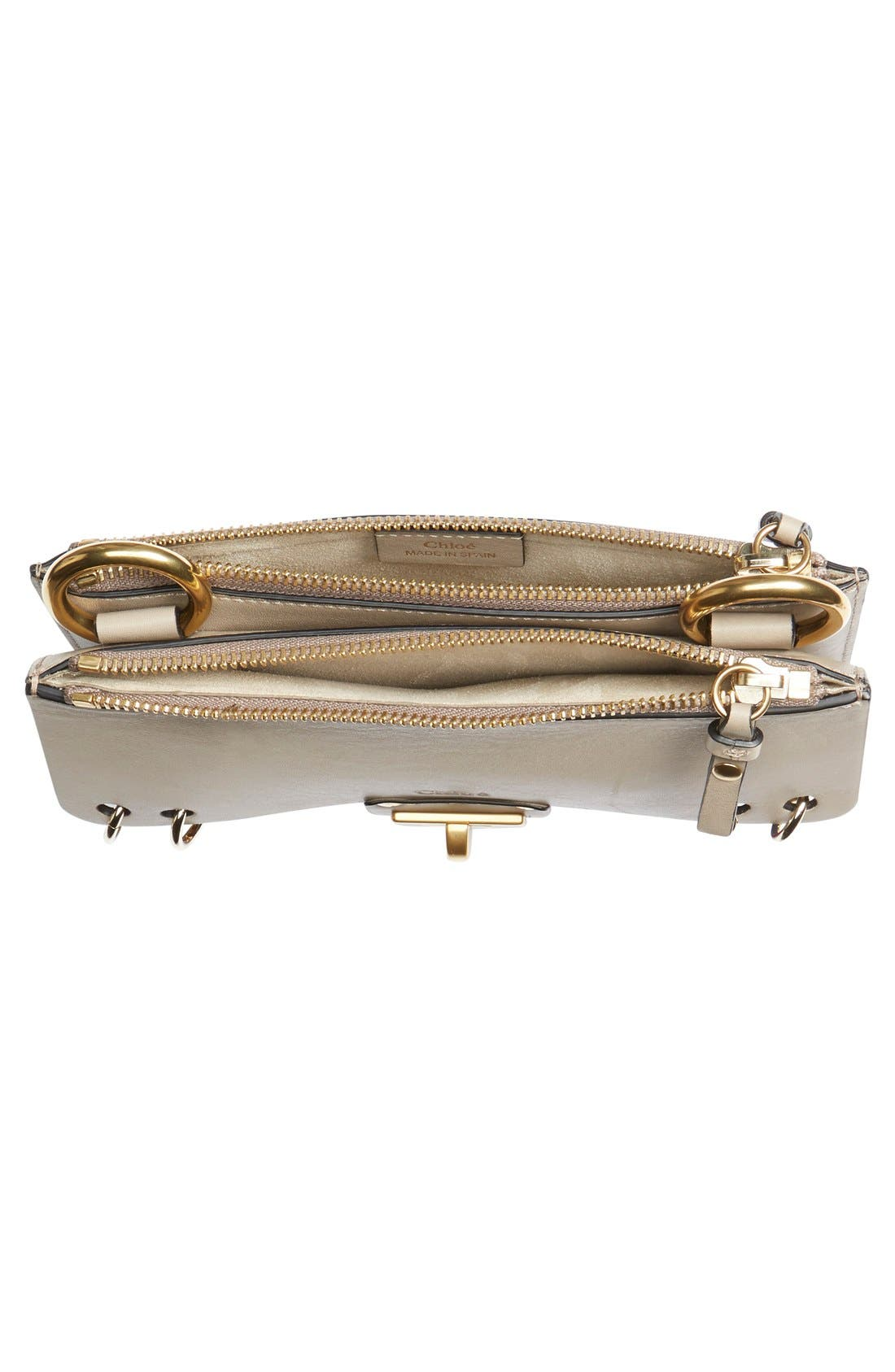 Alternate Image 6  - Chloé 'Small Jane' Suede Fringe Patchwork Leather Crossbody Bag