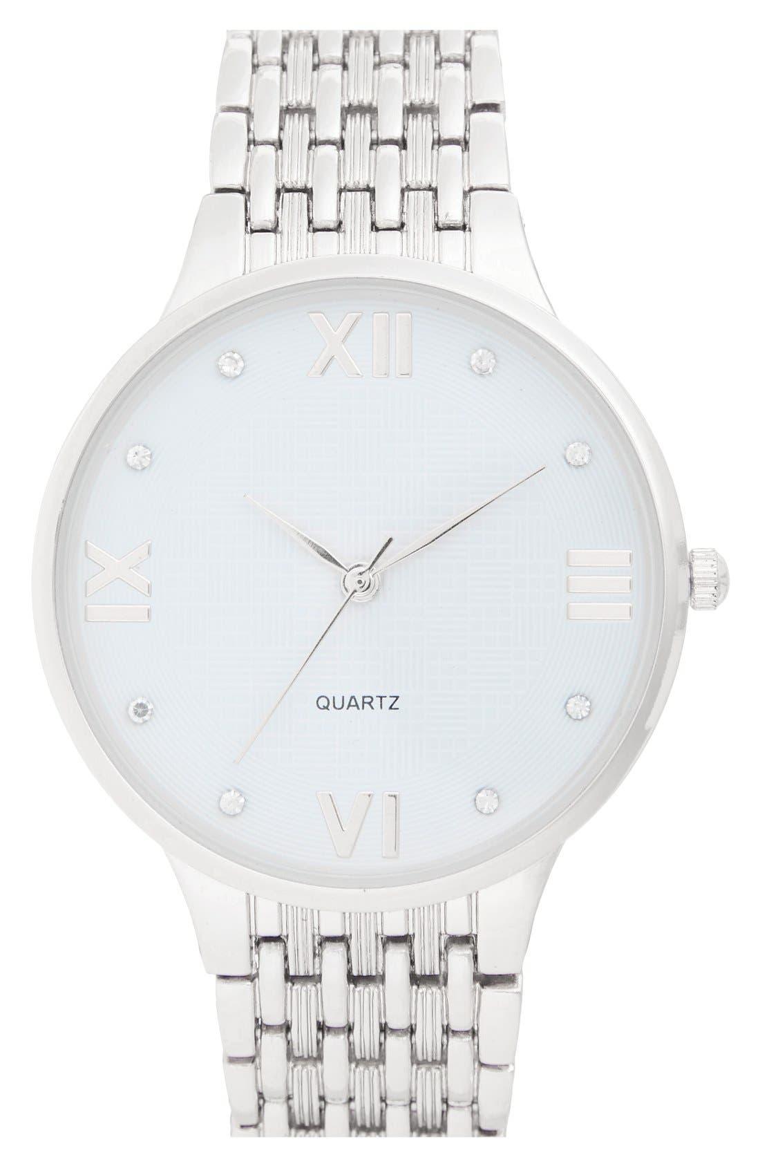 Main Image - BP. 'Boyfriend' Bracelet Watch, 42mm