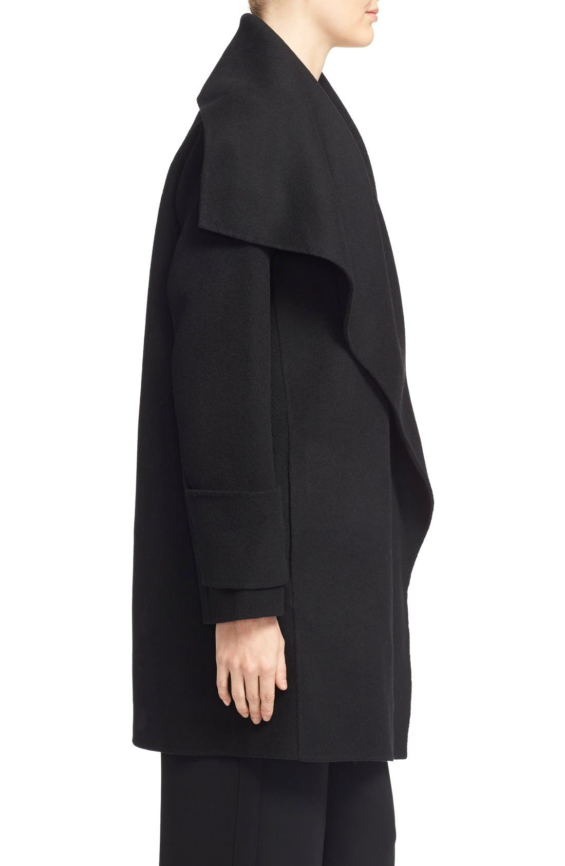 Alternate Image 3  - Vince Drape Neck Wool Blend Coat