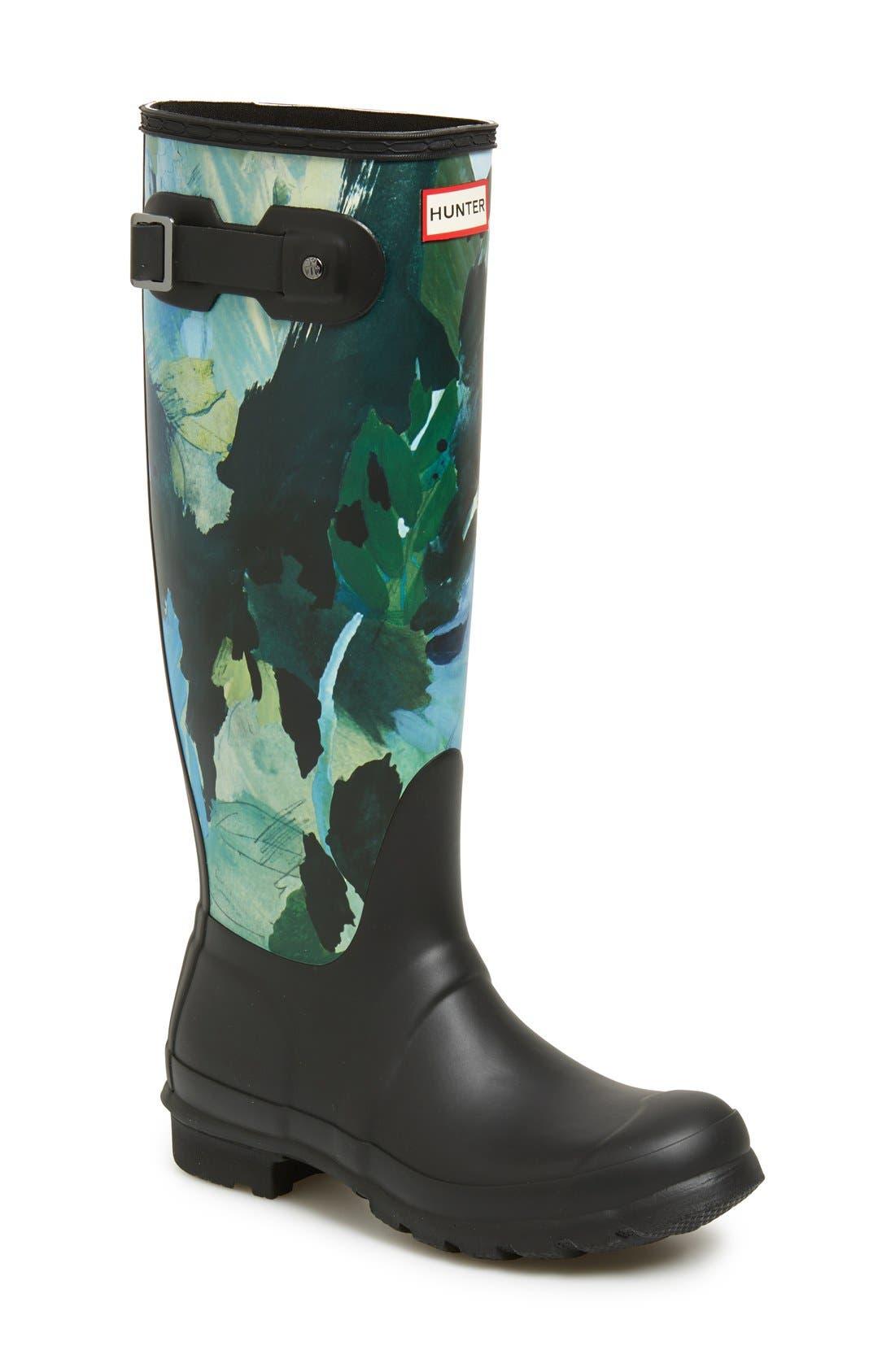 Main Image - Hunter 'Original Tall - Botanical' Rain Boot (Women)